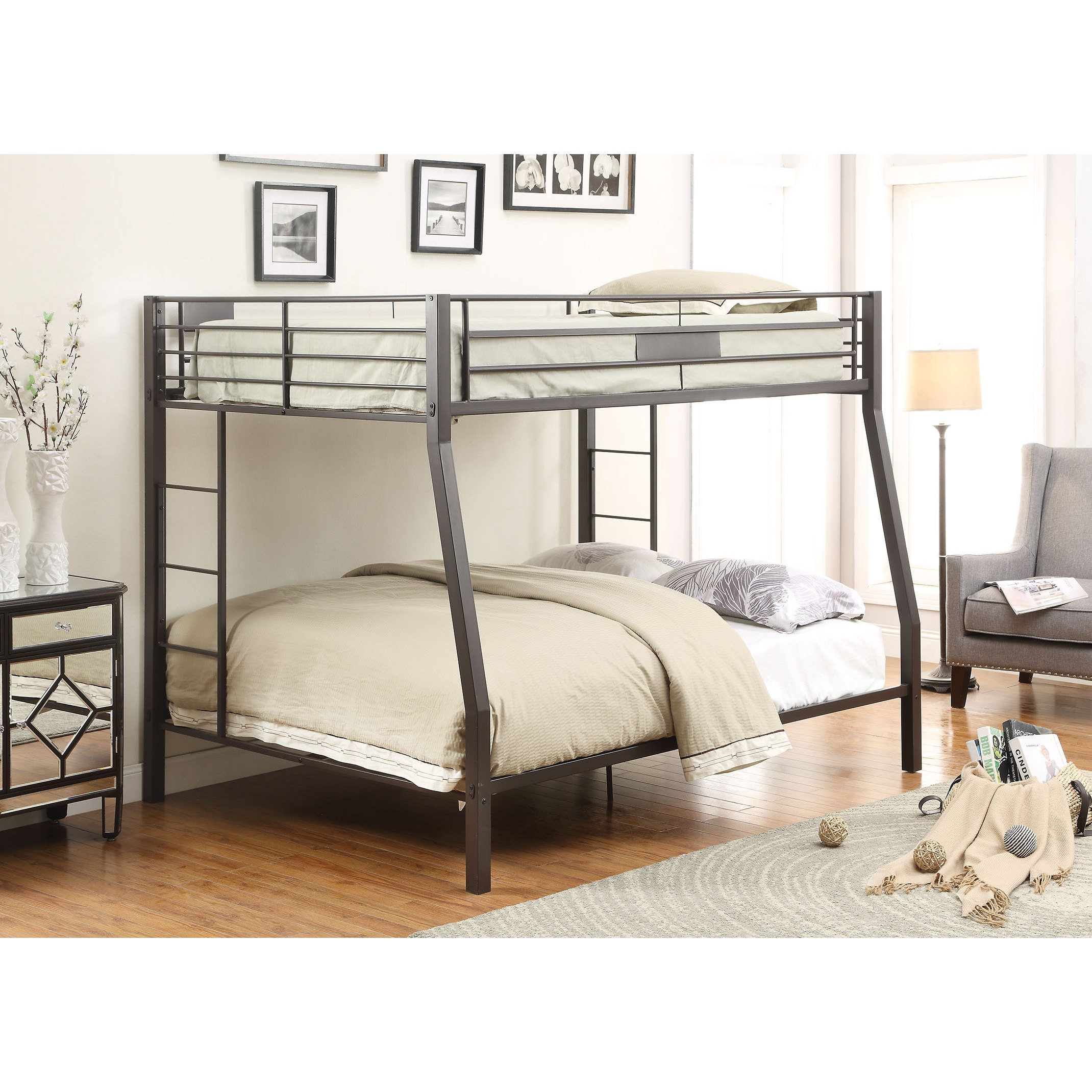 Shop Limbra Black Full / Queen Bunkbed   Free Shipping Today    Overstock.com   11600115