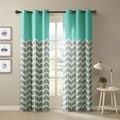 Intelligent Design Rayna Chevron Printed Grommet Top Curtain Panel Pair
