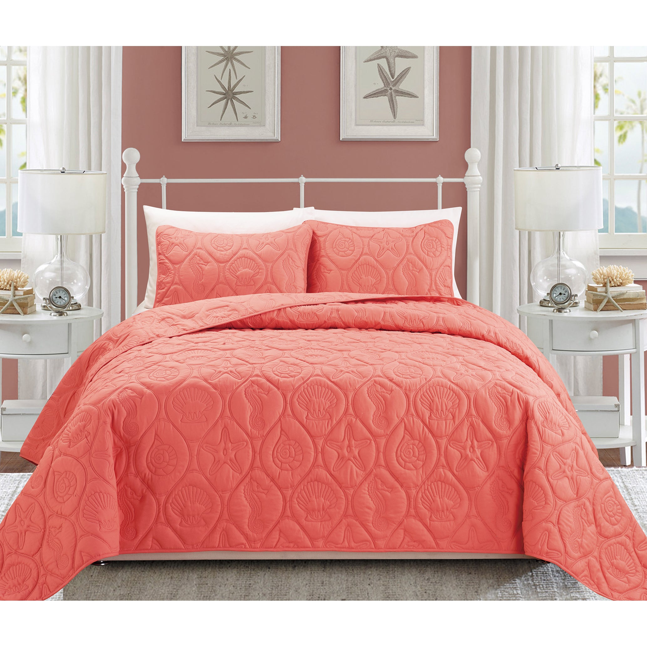 bedding bedroom coral ideas for comforter ocean gorgeous theme pin with beautiful sea grey set