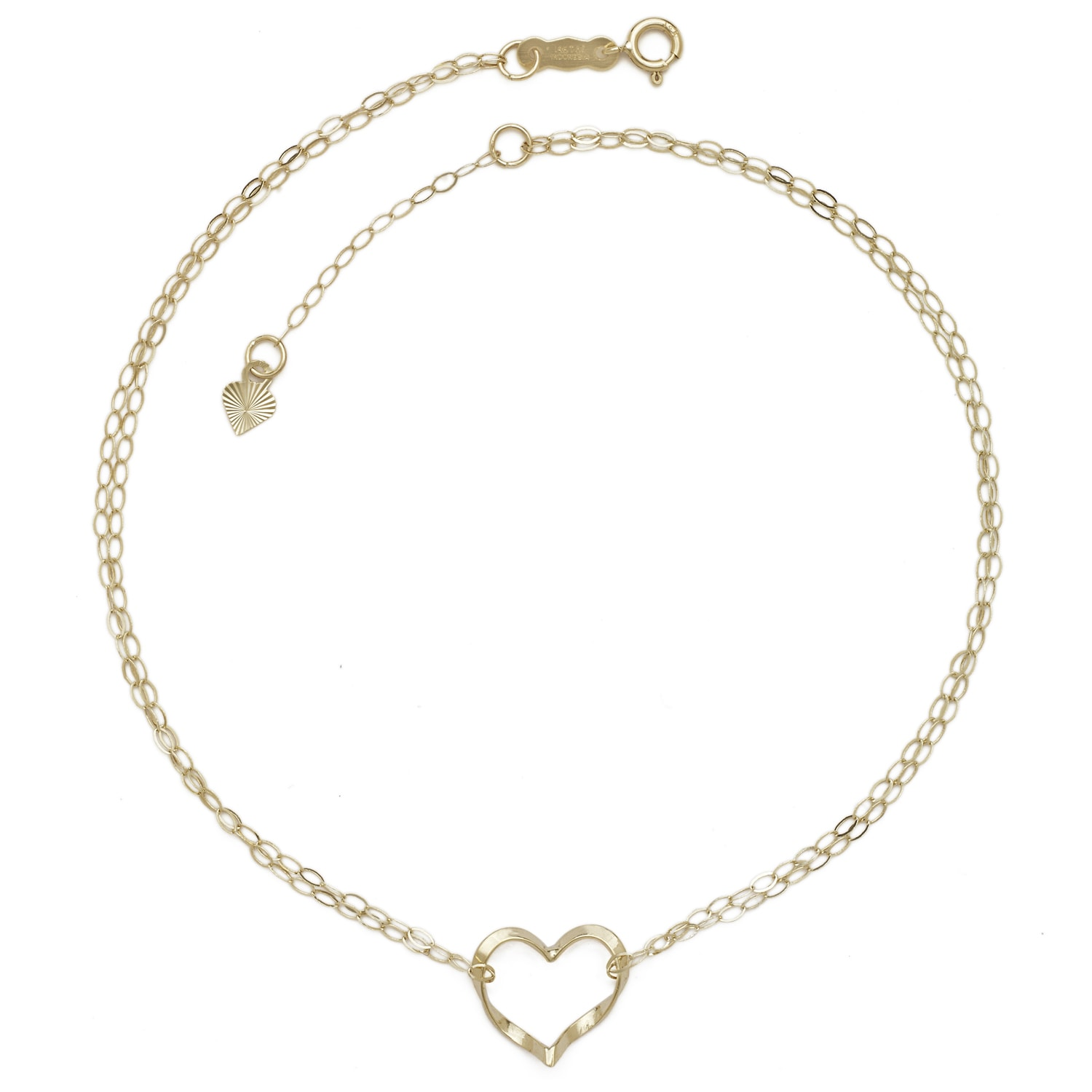 chain yellow twisted solid l bracelet anklet rope gold