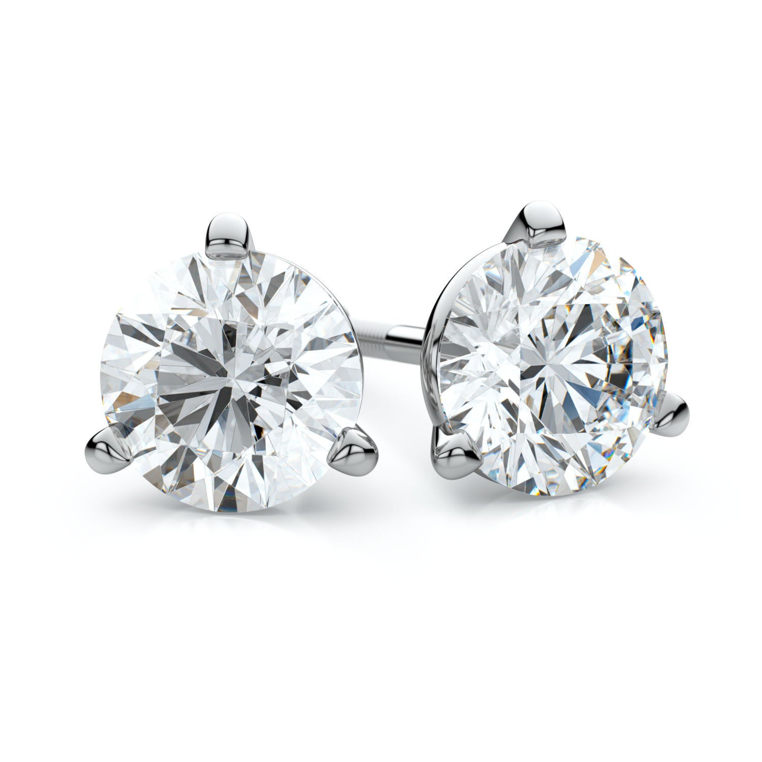 stud studs wg nl pear white jewelry platinum carat with gold in earring diamond prong