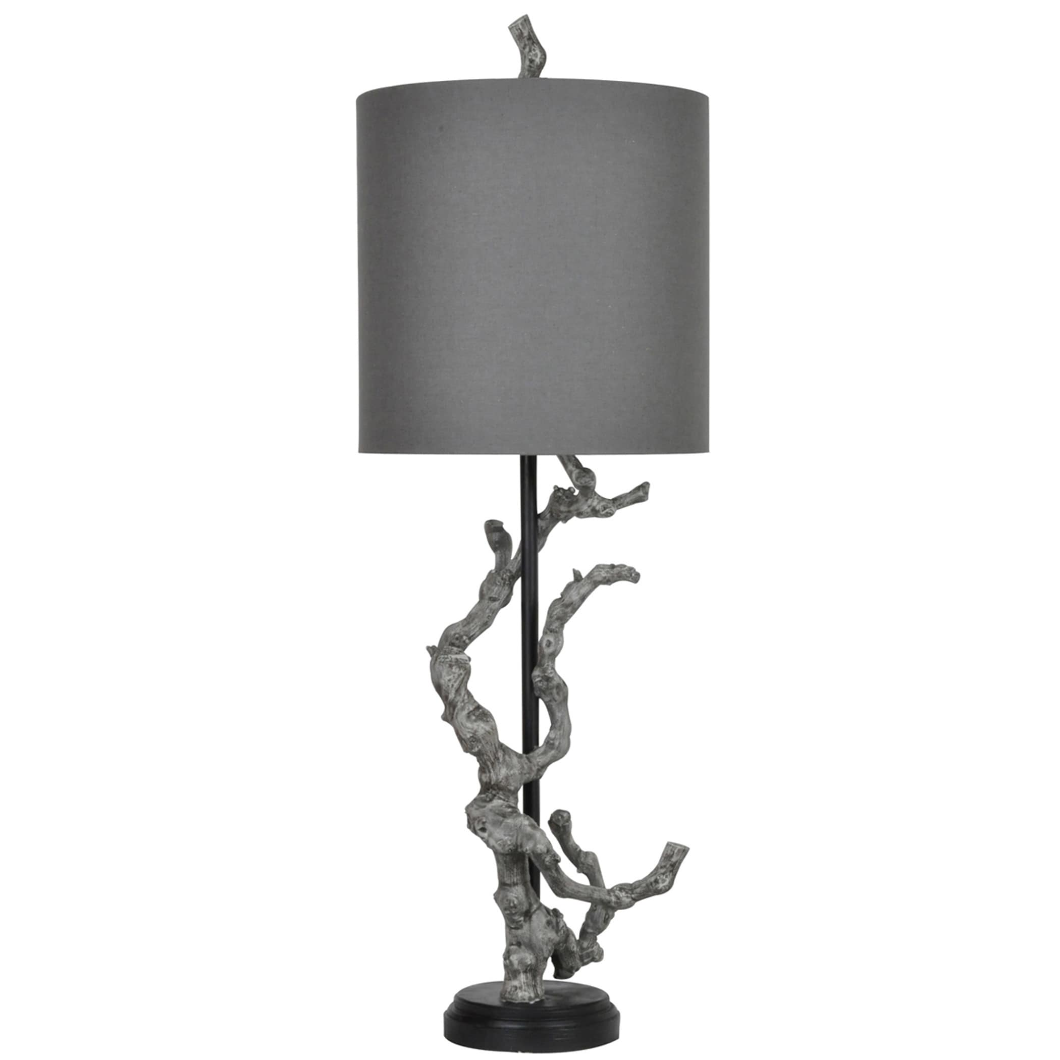Branches table lamp Chrome Shop Twisted Branch Bleached Grey 435inch Table Lamp Free Shipping Today Overstockcom 11606390 Overstock Shop Twisted Branch Bleached Grey 435inch Table Lamp Free
