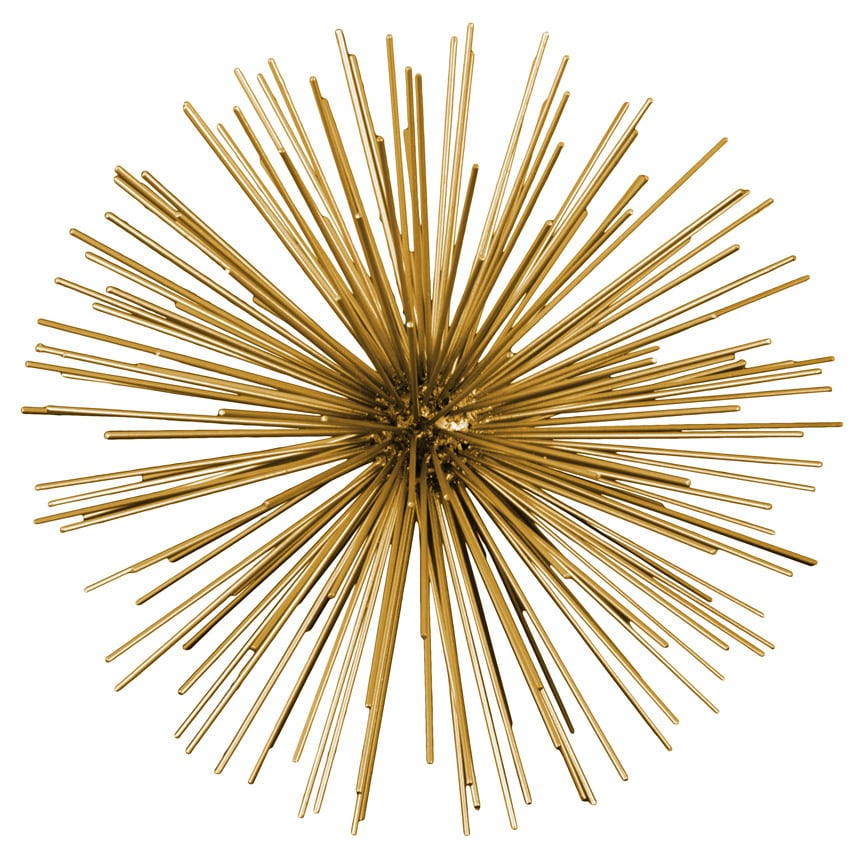Shop Metal Sea Urchin Ornamental Sculpture Wall Decor Large Coated ...