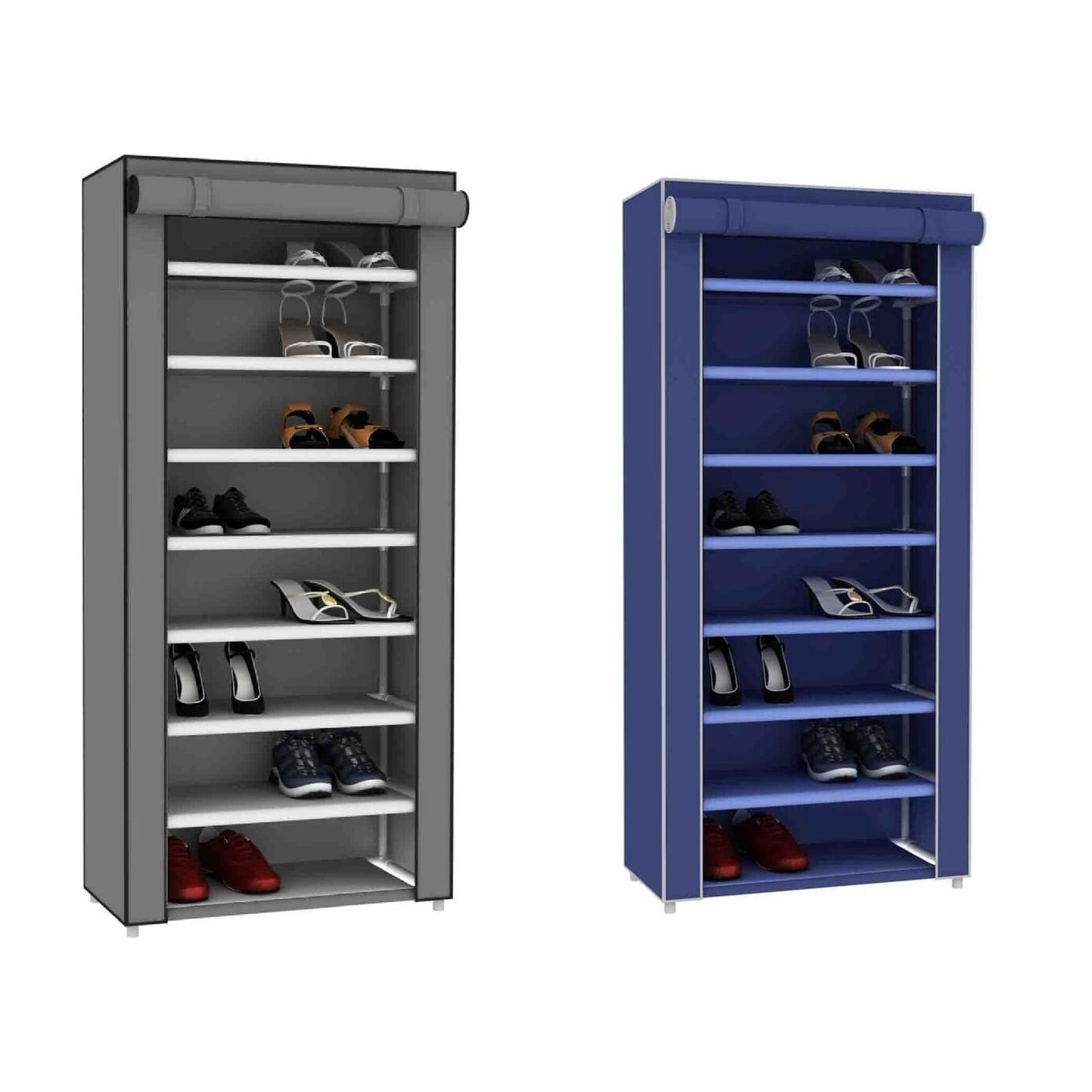 Sunbeam Blue 8 Tier Shoe Closet