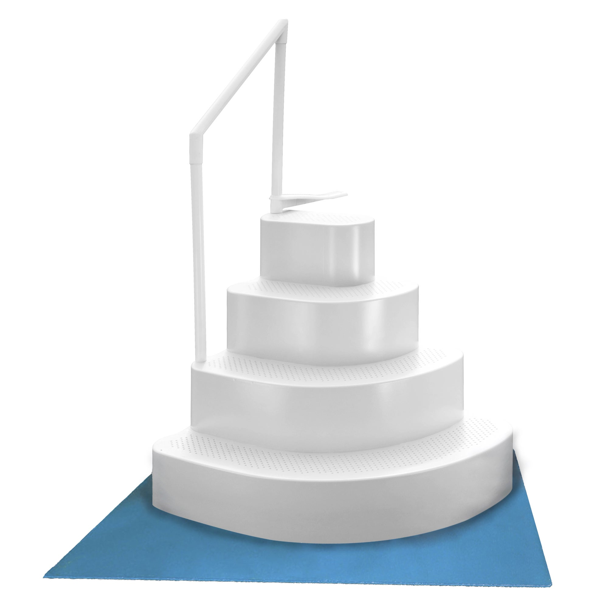 Ordinaire Shop Wedding Cake Above Ground Pool Step With Liner Pad   White   Free  Shipping Today   Overstock.com   11606731