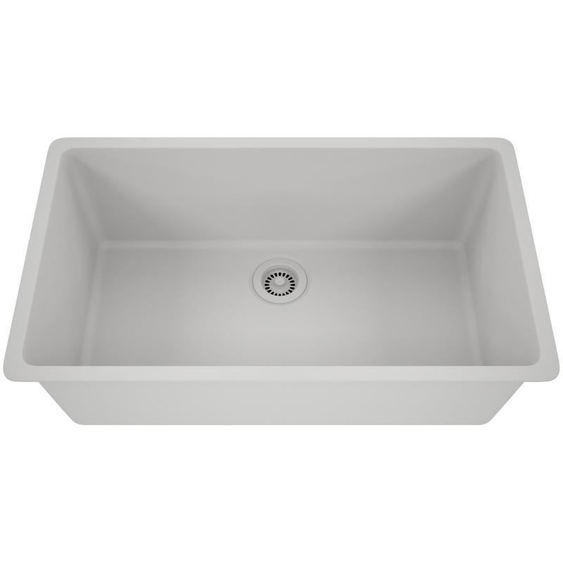 Admirable Lexicon Platinum Quartz Composite 32X19 Inch Kitchen Sink With Large Single Bowl Interior Design Ideas Ghosoteloinfo