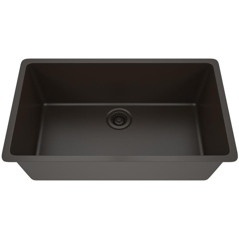 Lexicon Platinum Quartz Composite 32x19 Inch Kitchen Sink With Large Single Bowl On Free Shipping Today 11606951