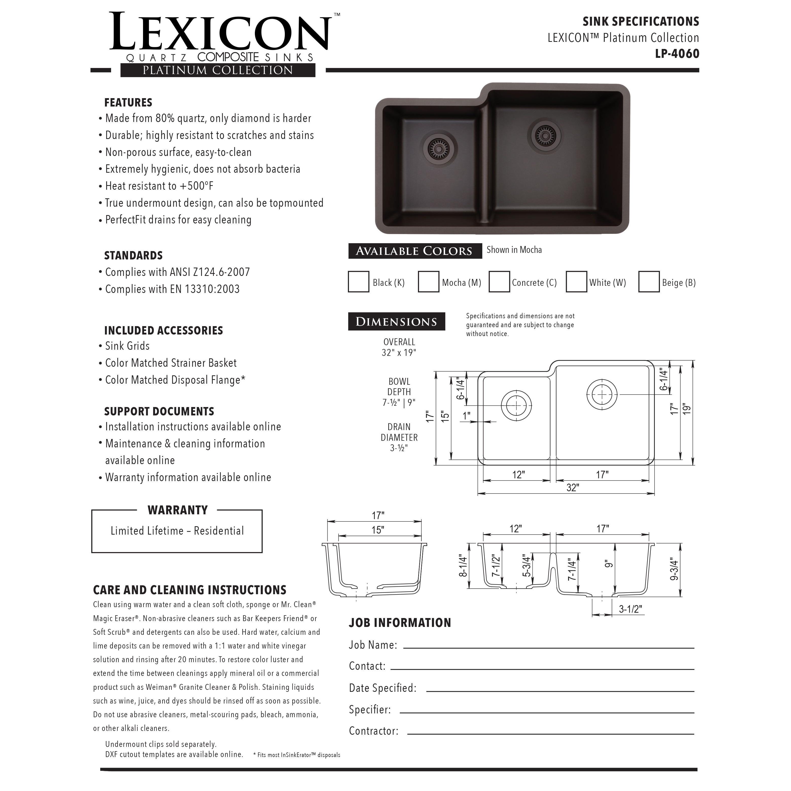 Lexicon Platinum Offset Double Bowl Quartz Composite Kitchen Sink   Free  Shipping Today   Overstock.com   18544755
