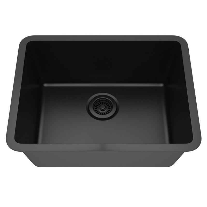 Shop Lexicon Platinum Medium Single Bowl Quartz Composite Kitchen ...
