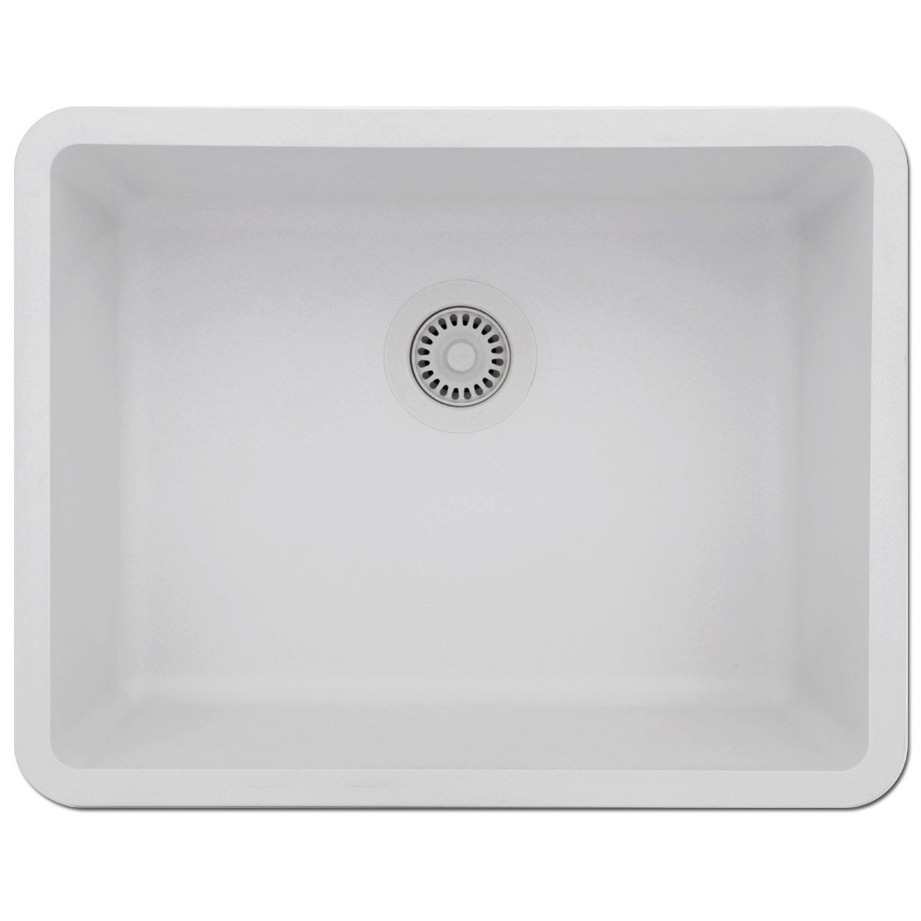 Lexicon Platinum Medium Single Bowl Quartz Composite Kitchen Sink ...