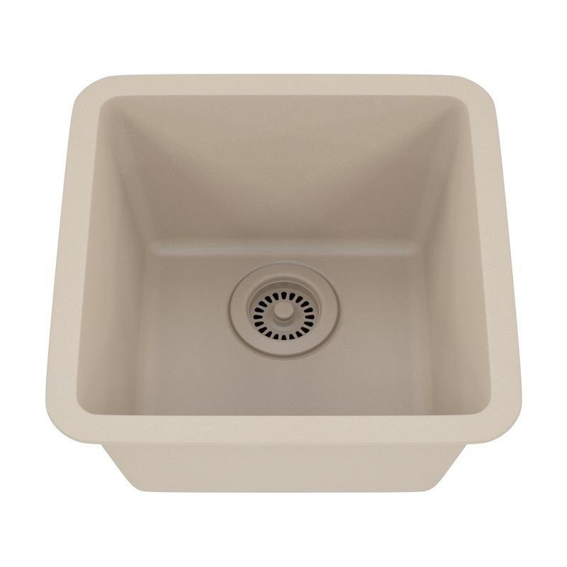 Lexicon Platinum Small Single Bowl Quartz Composite Kitchen Sink Free Shipping Today 11607121
