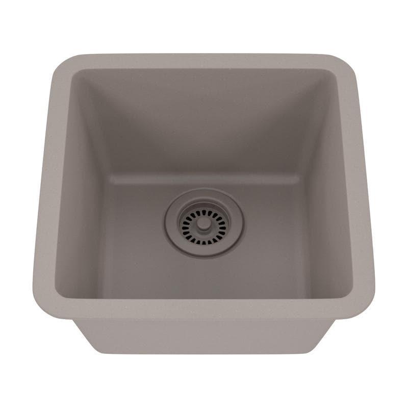 Shop Lexicon Platinum Small Single Bowl Quartz Composite Kitchen ...