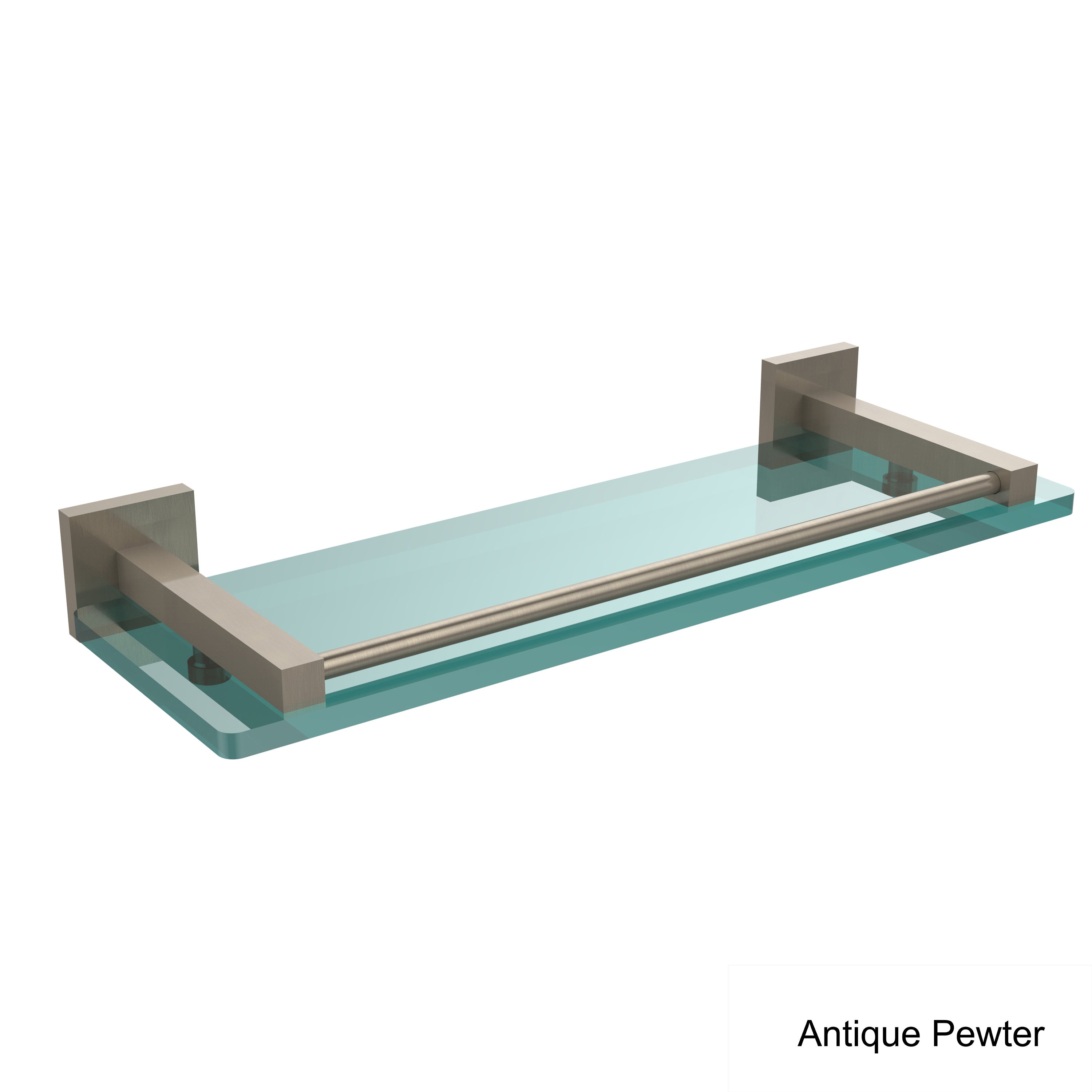 Allied Brass Montero Collection 16-inch Glass Shelf with Gallery ...