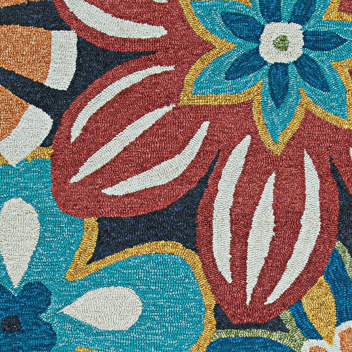 26388bb99508 Shop Miami Flower Power Navy-Multicolor Indoor/Outdoor Area Rug - 5'6