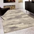 Carolina Weavers Serenity Collection Milky Haze Grey Area Rug (7'10 x 10'10)