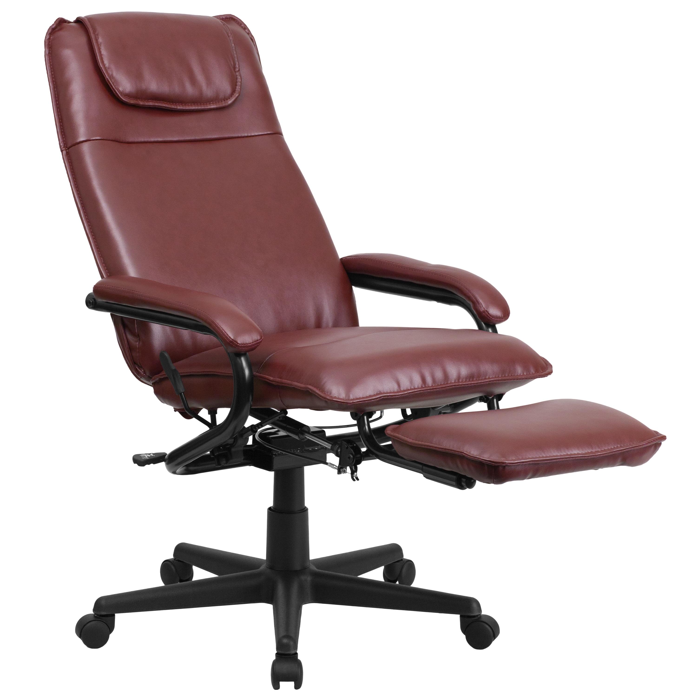 shop mabire reclining burgundy leather executive adjustable swivel
