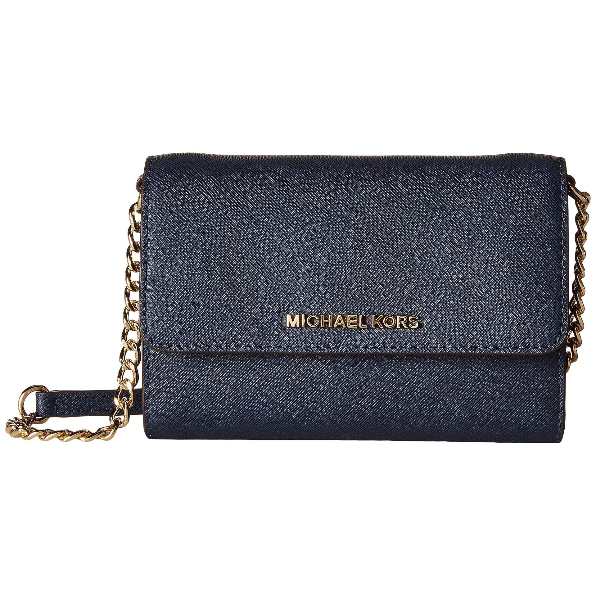 146e143760b07 Shop Michael Kors Jet Set Navy Travel Large Phone Crossbody Handbag ...