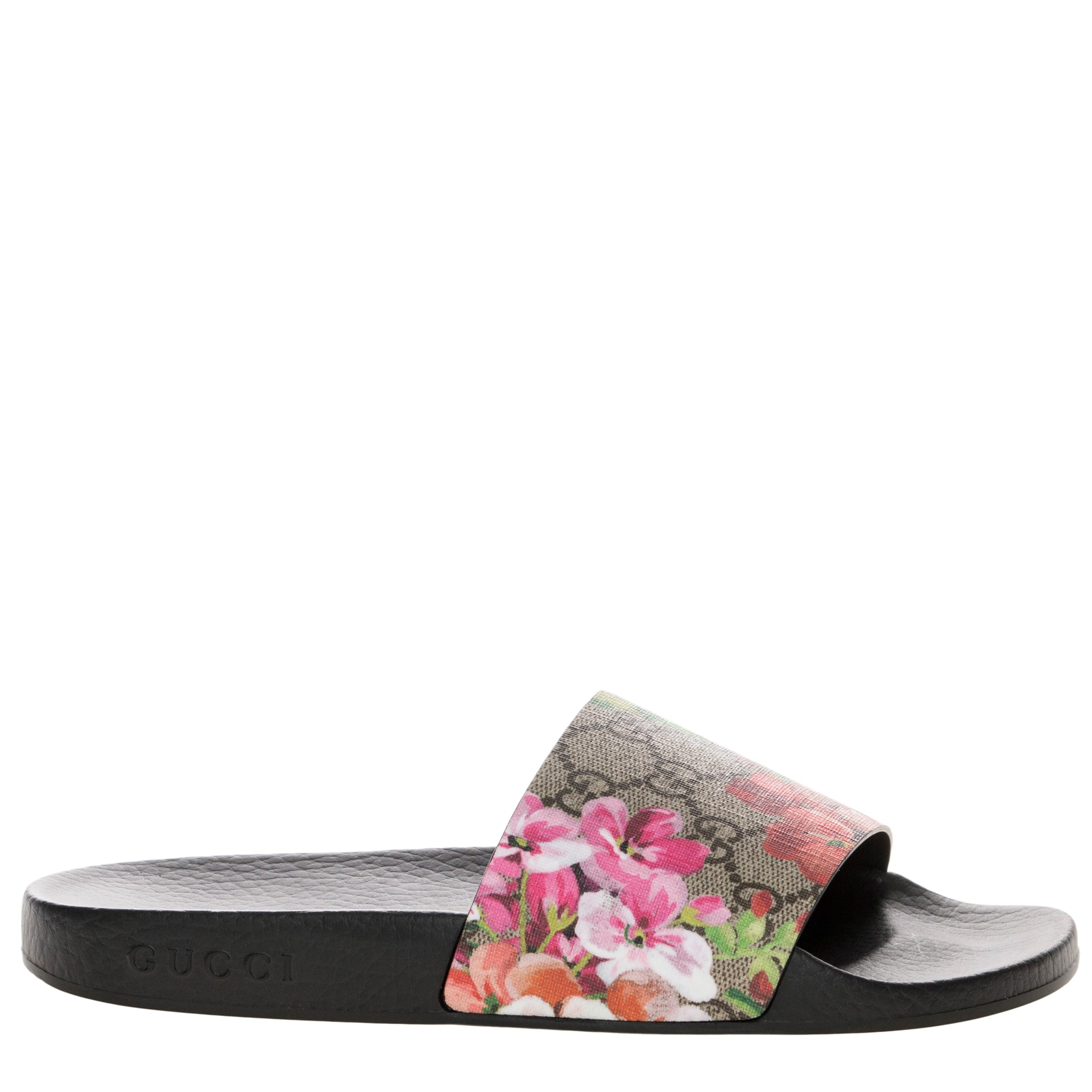 8dd5fdb9018 Shop Gucci Women s GG Blooms Supreme Rubber Sole Slide Sandals - Free  Shipping Today - Overstock - 11614566