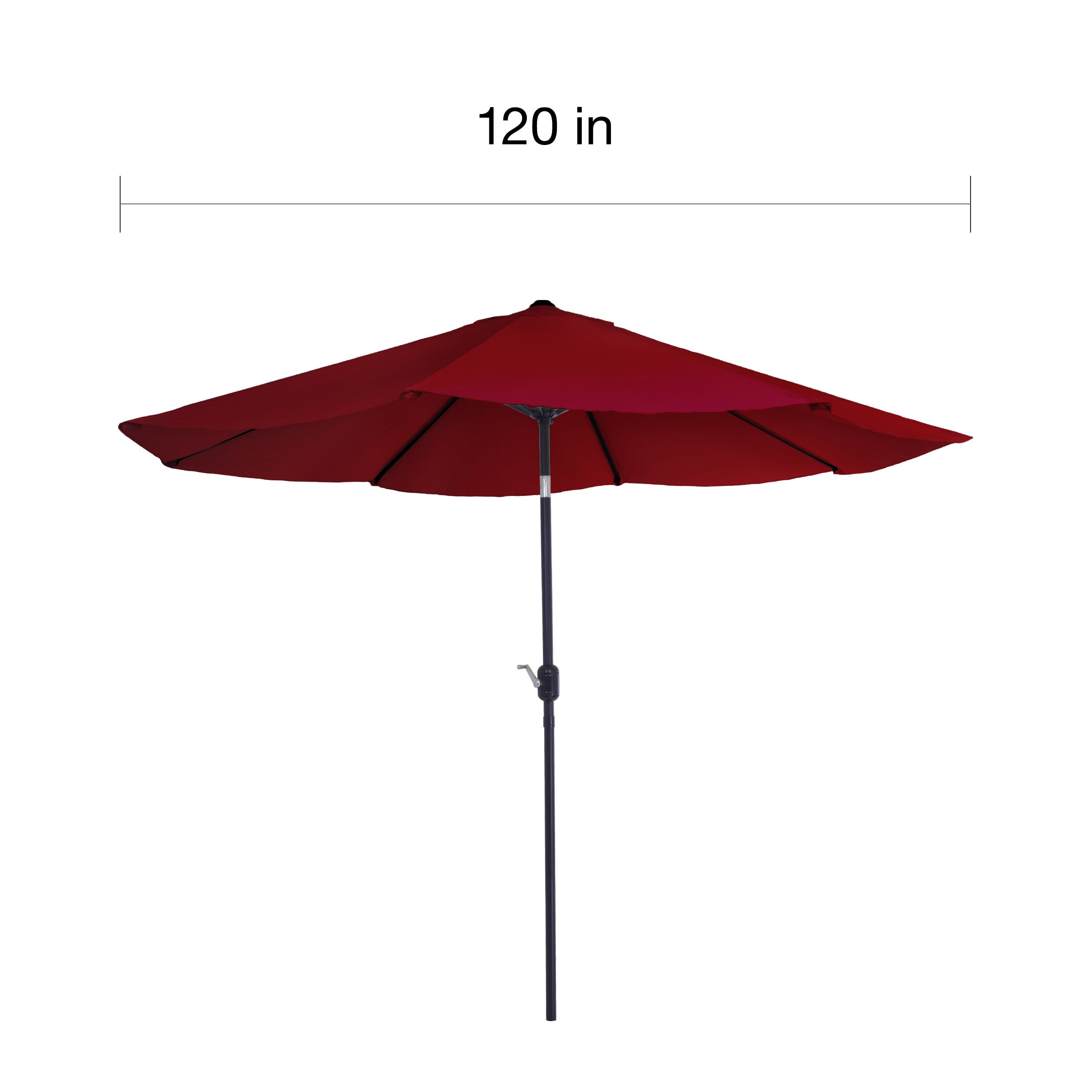 Pure Garden 10 Foot Red Aluminum Patio Umbrella With Auto Tilt Free Shipping Today 11614934