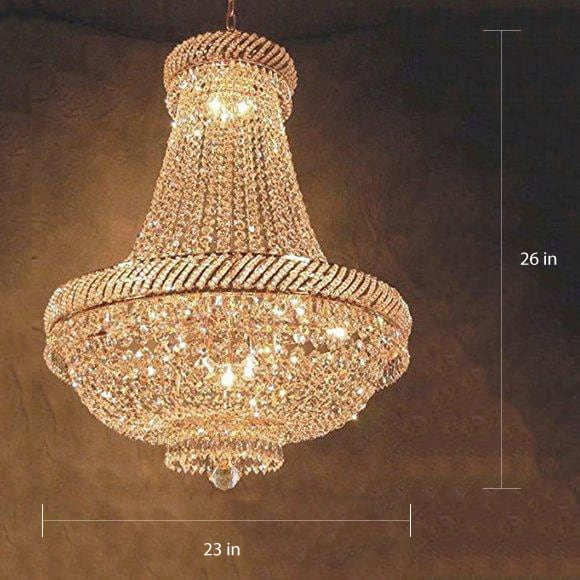 French Empire Crystal Chandelier Lighting H26 X W23 On Free Today Com 11615471