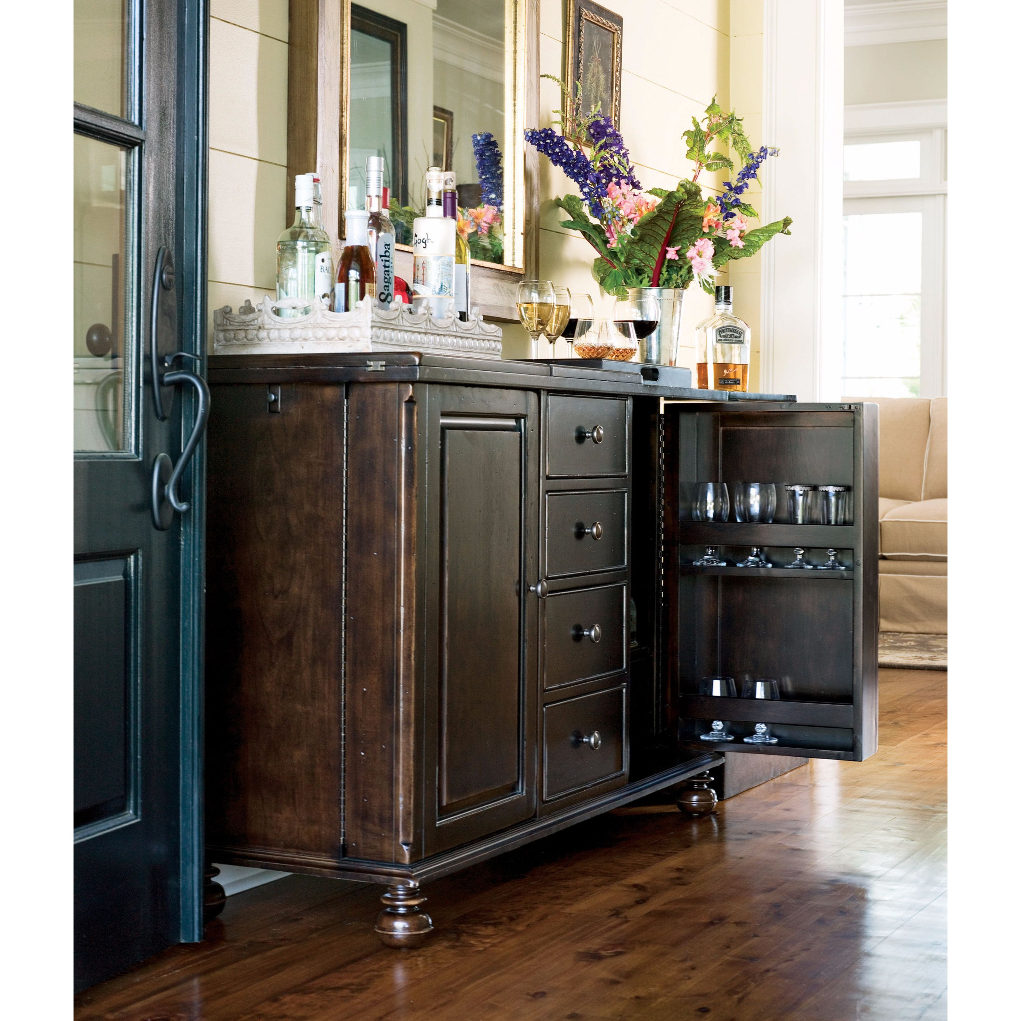 Image of: Shop Paula Deen Home Captain Mike S Bar In Tobacco Finish Overstock 11620987