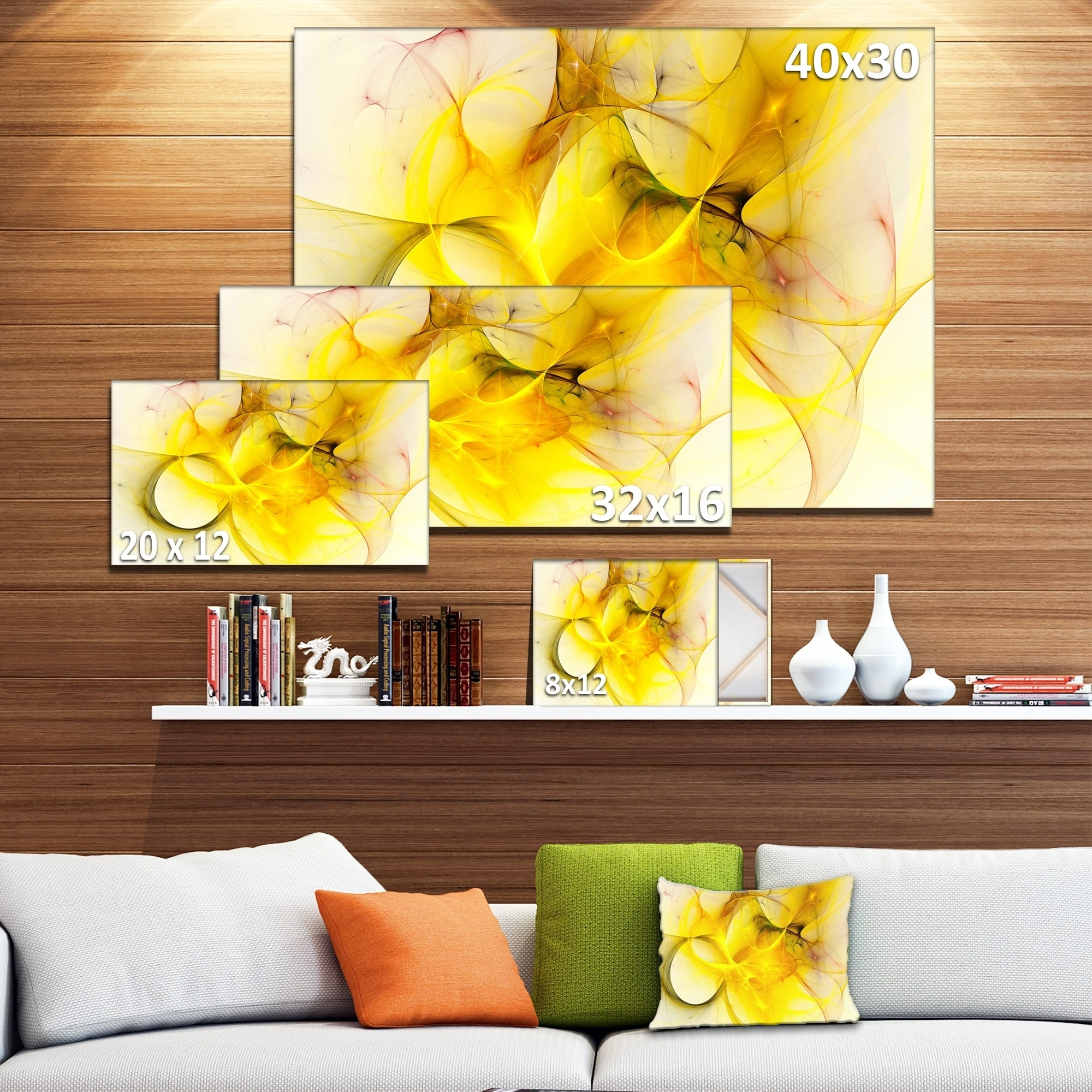Shop Designart \'Light Yellow Nebula Star\' Abstract Digital Art ...