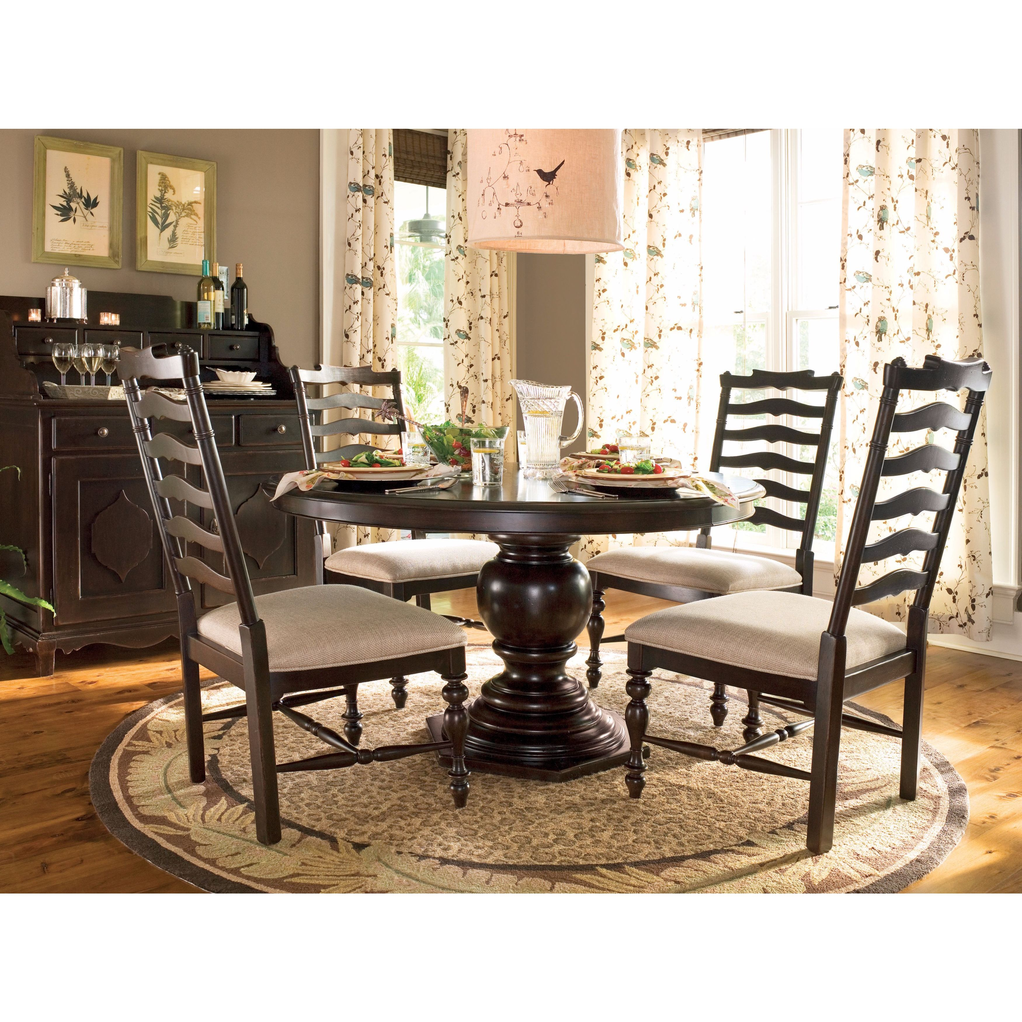 Shop Paula Deen Home Round Pedestal Table Complete In Tobacco Finish