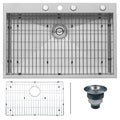 Ruvati RVH8001 Overmount Stainless Steel Single Bowl Kitchen Sink (33 inches x 22 inches)