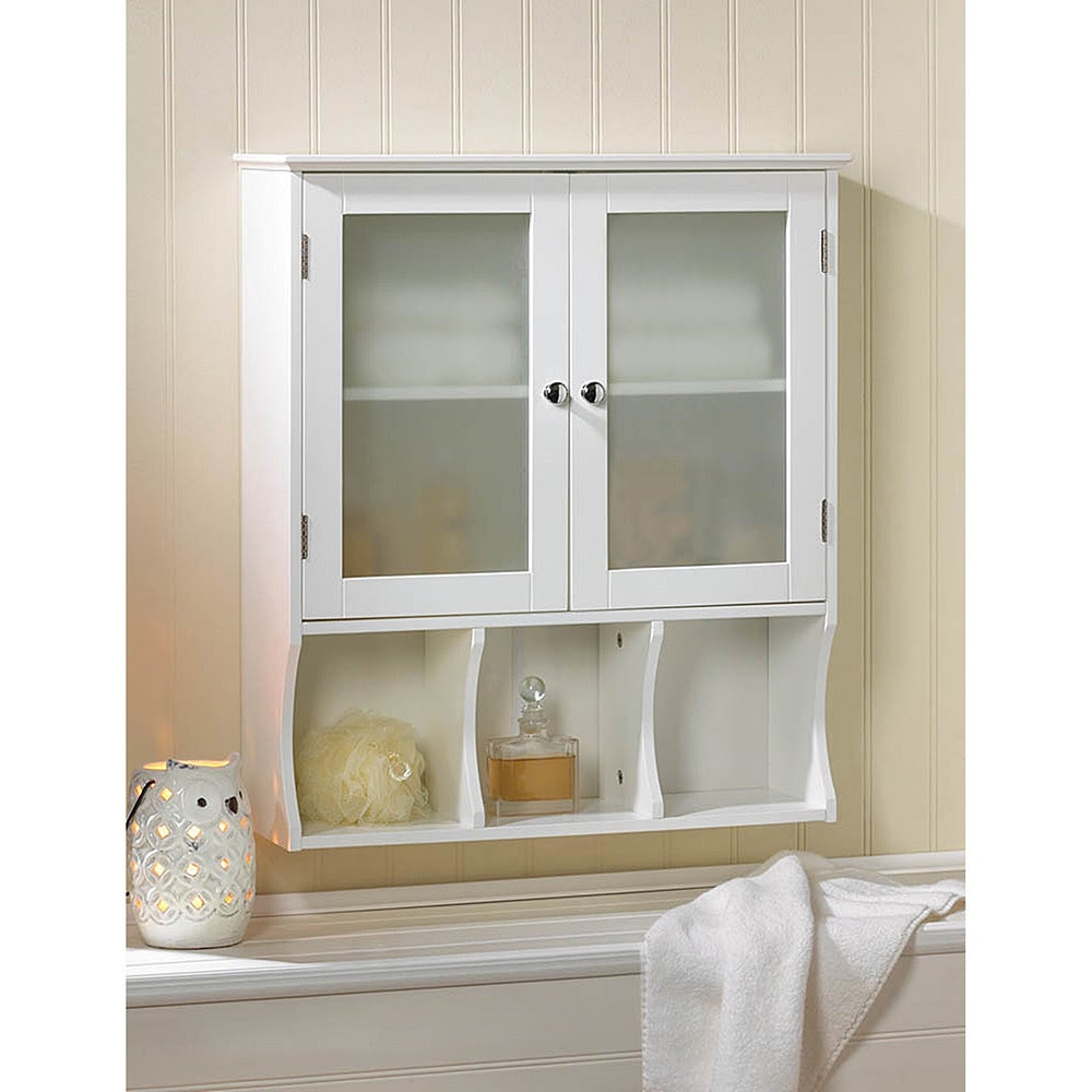 Shop Wall Mounted White Space Saver Display Cabinet - Free Shipping ...