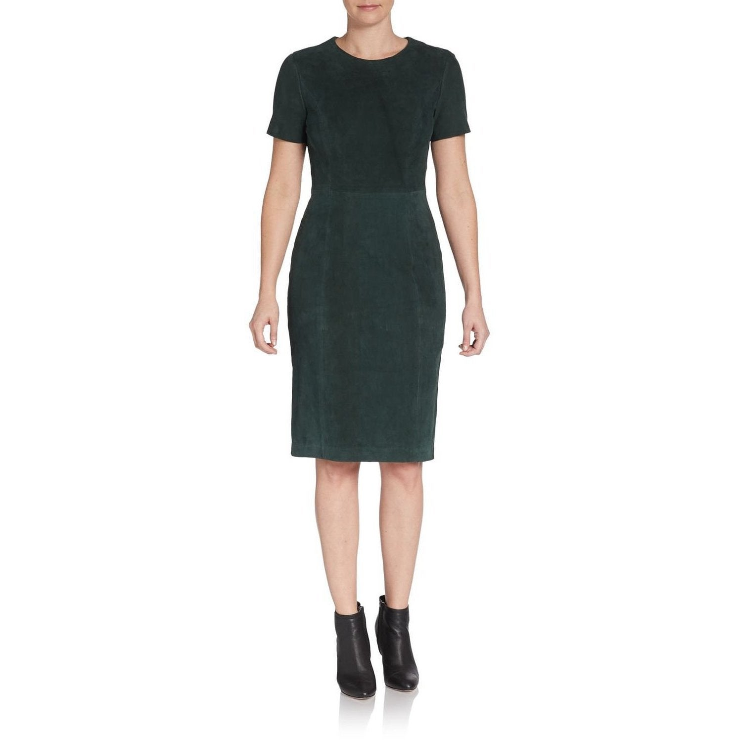 87a80954289e Shop Elie Tahari Emily Evergreen Suede Dress - Free Shipping Today -  Overstock - 11624889