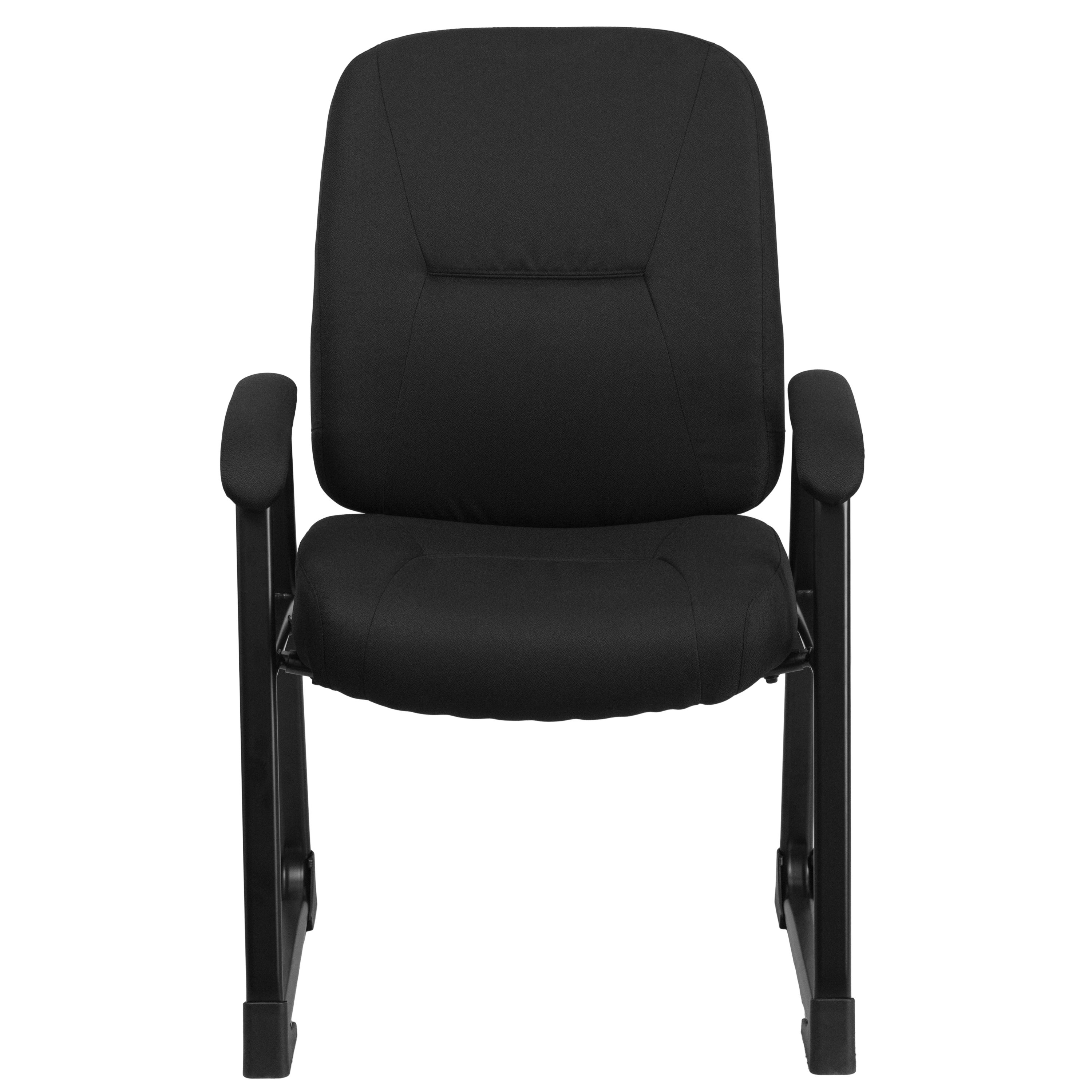 Shop Maral Big and Tall Black Fabric Office Visitor Reception Chair ...