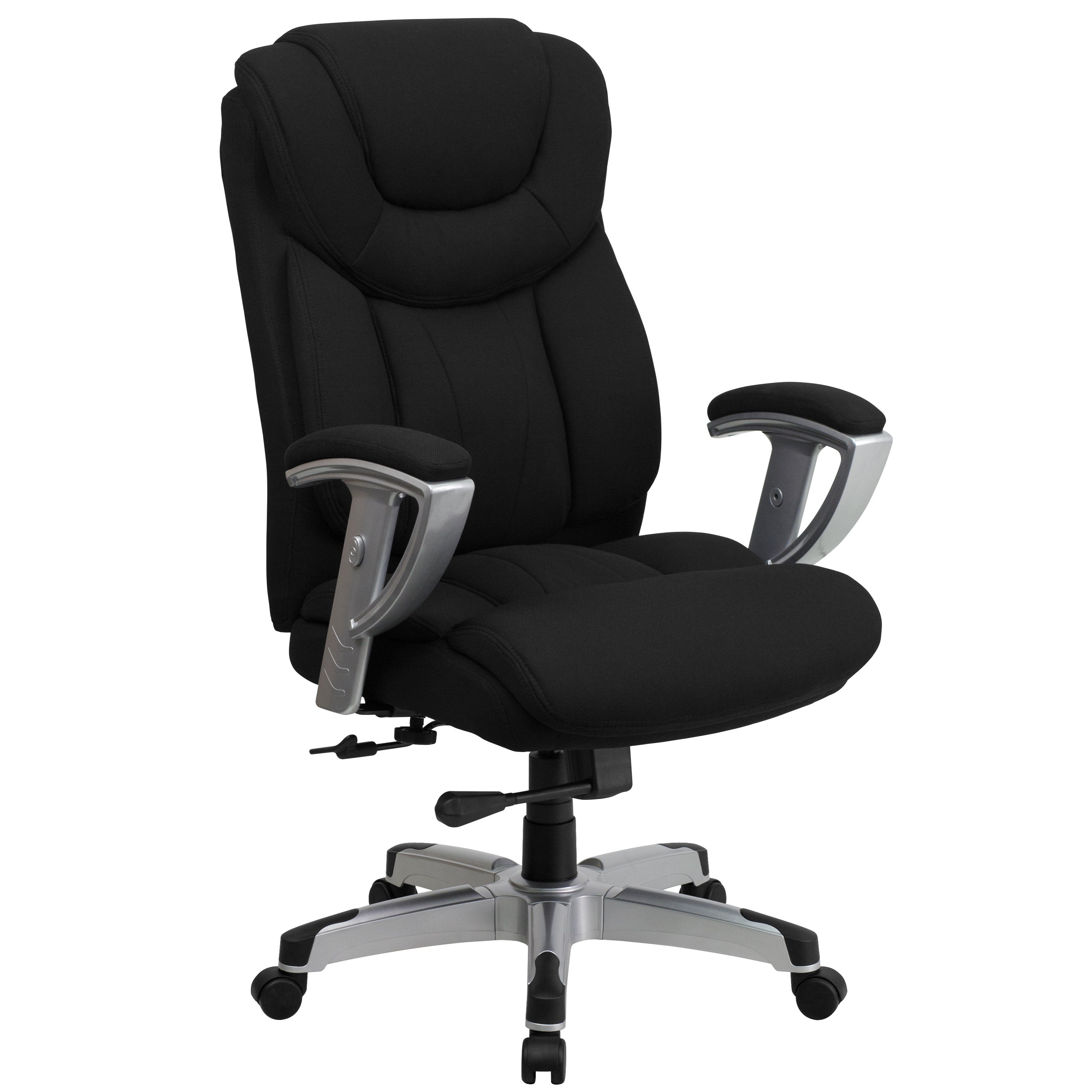 Bolvan And Tall Black Fabric Executive Swivel Office Chair With Adjule Arms Free Shipping Today 11627480