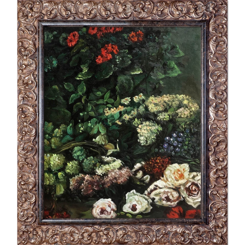 Shop Claude Monet Spring Flowers Hand Painted Framed Canvas Art