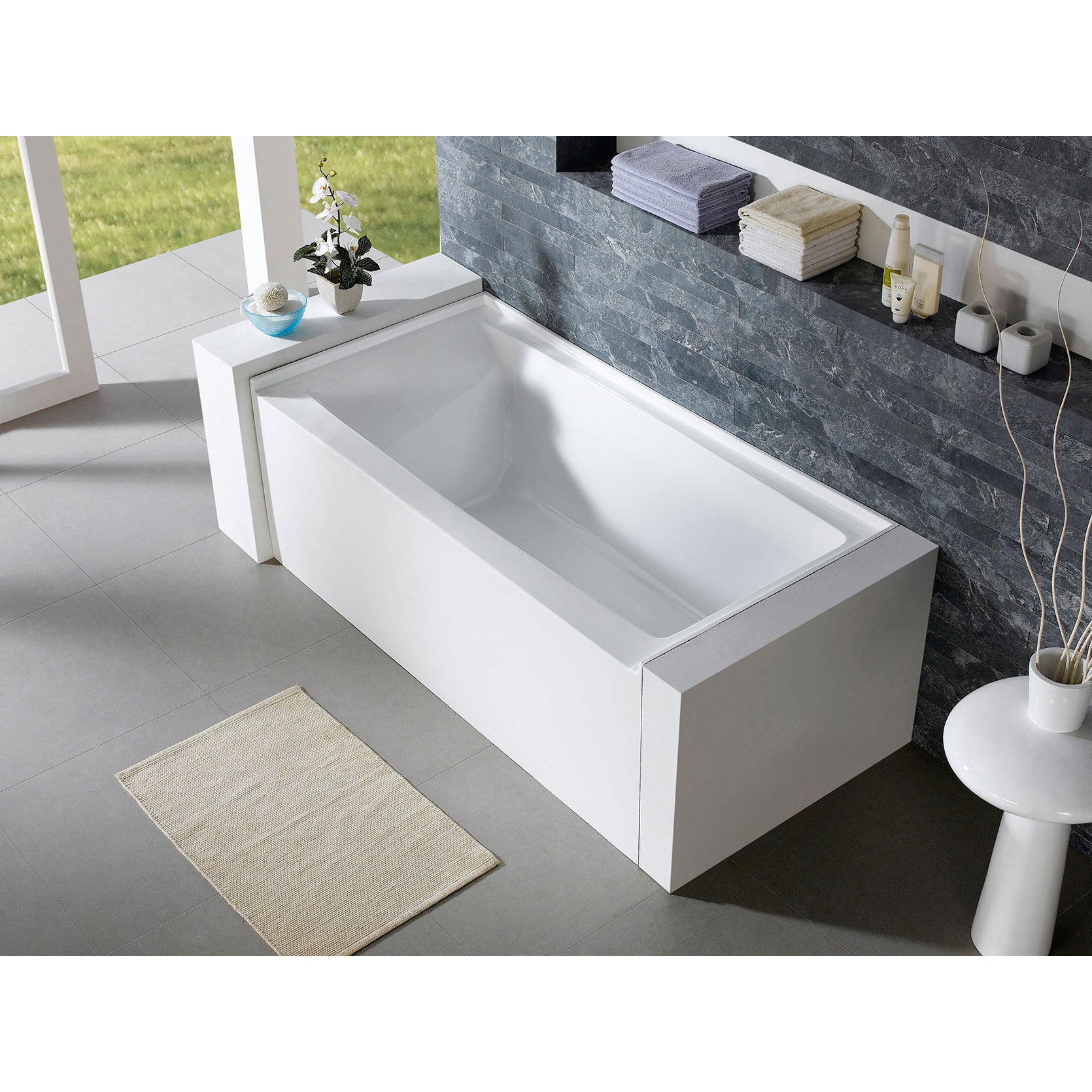 drain ft gloss high p in tub curve left bathtubs white classic soaking alcove delta