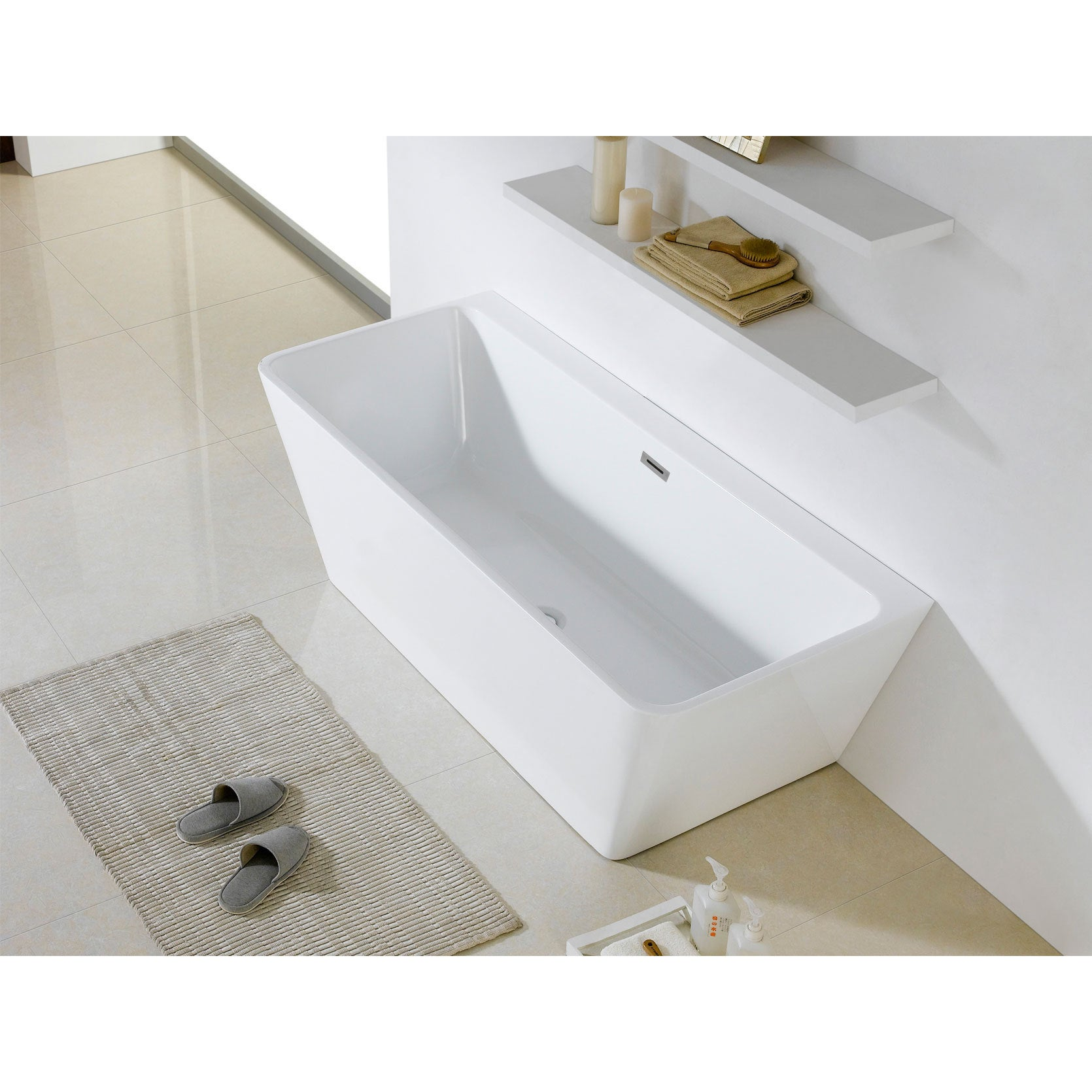 inch product white soaking overstock x bathtub tub rectangle bellagio garden today home free shipping
