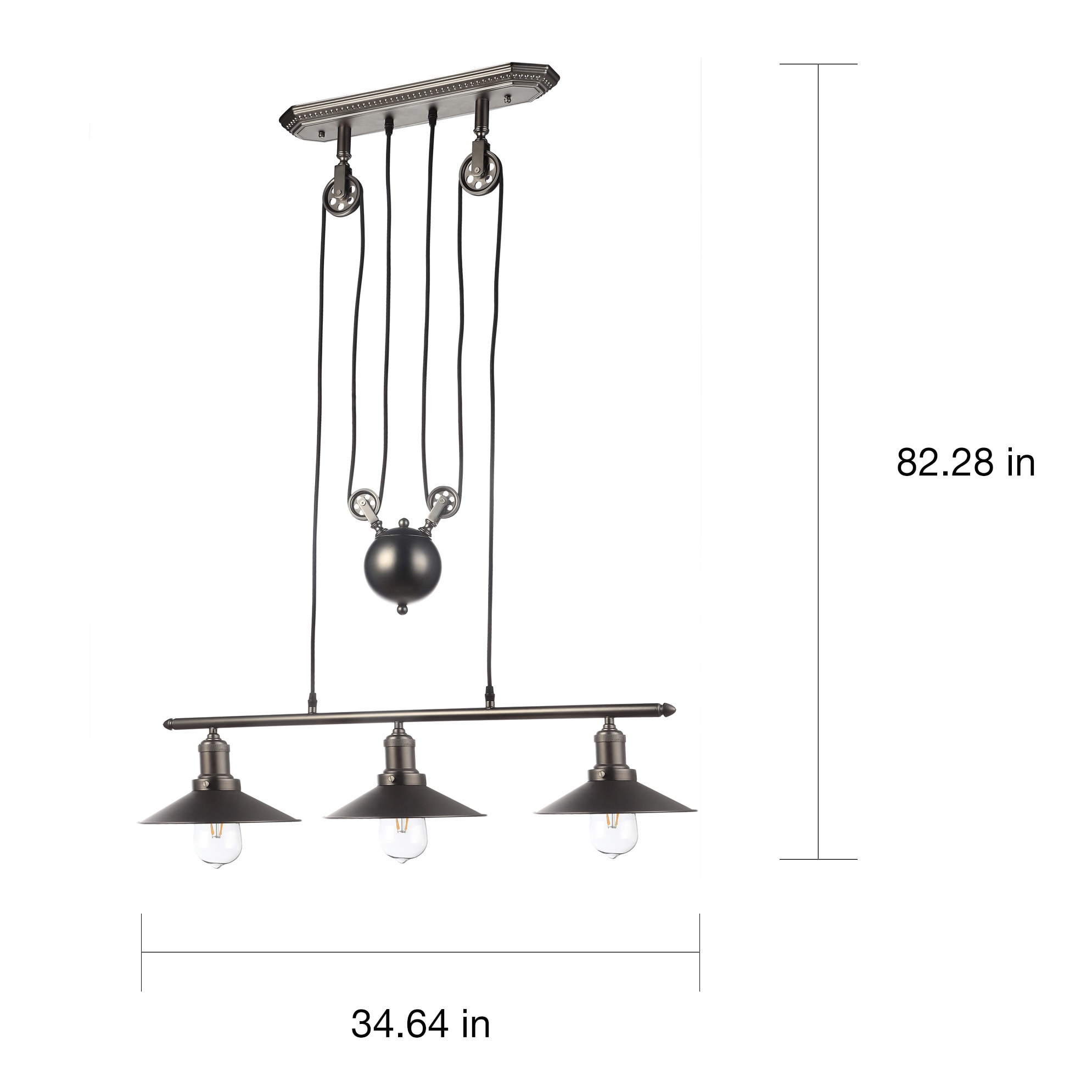 Shop Vonn Lighting Vvc31023bz Delphinus 35 Inch Linear Chandelier Parts Diagram With Led Filament Bulbs Free Shipping Today 11638144