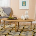 Rosemead Oval Acacia Wood Coffee Table by Christopher Knight Home