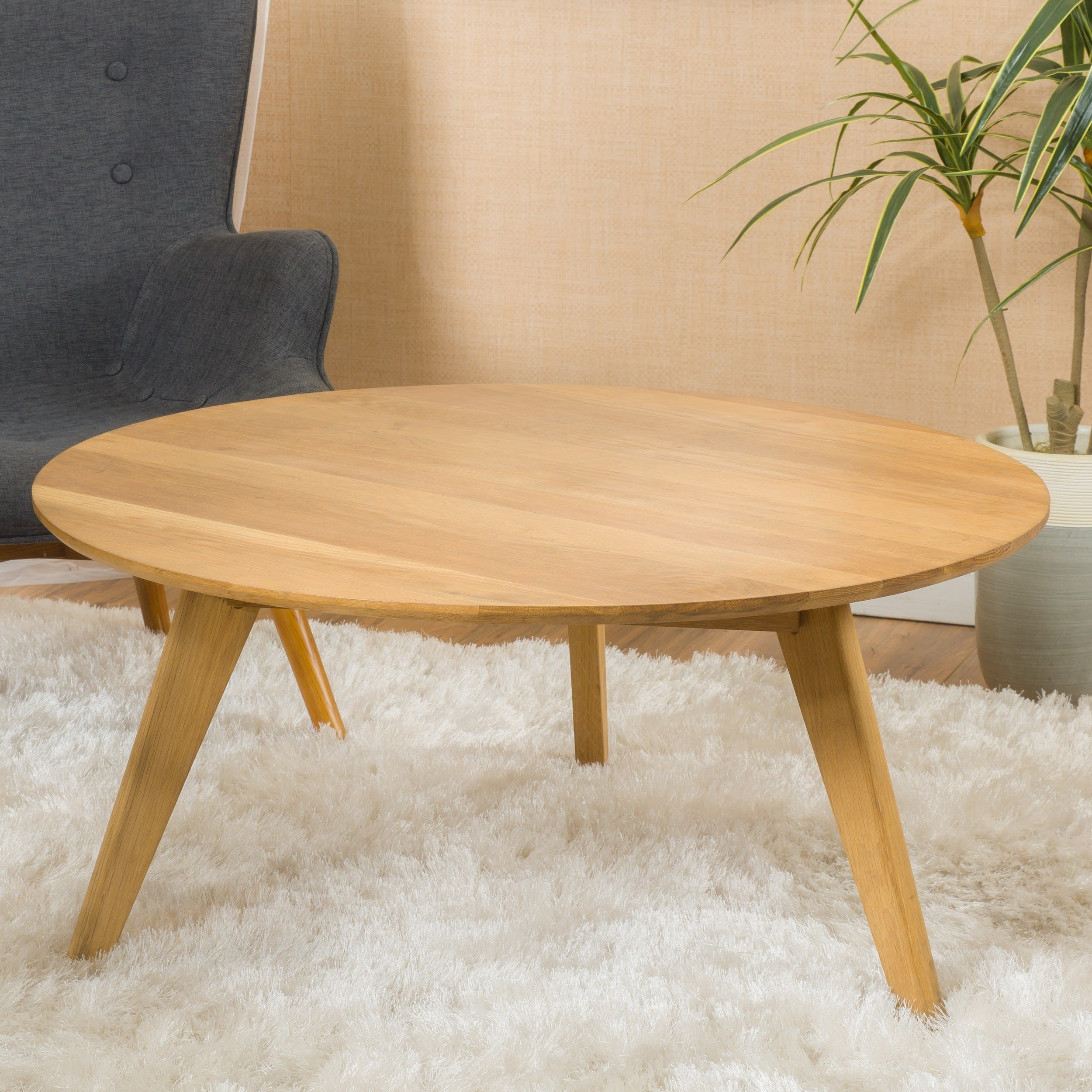 Etonnant Shop Canton Round Acacia Wood Coffee Table By Christopher Knight Home   On  Sale   Free Shipping Today   Overstock.com   11638504