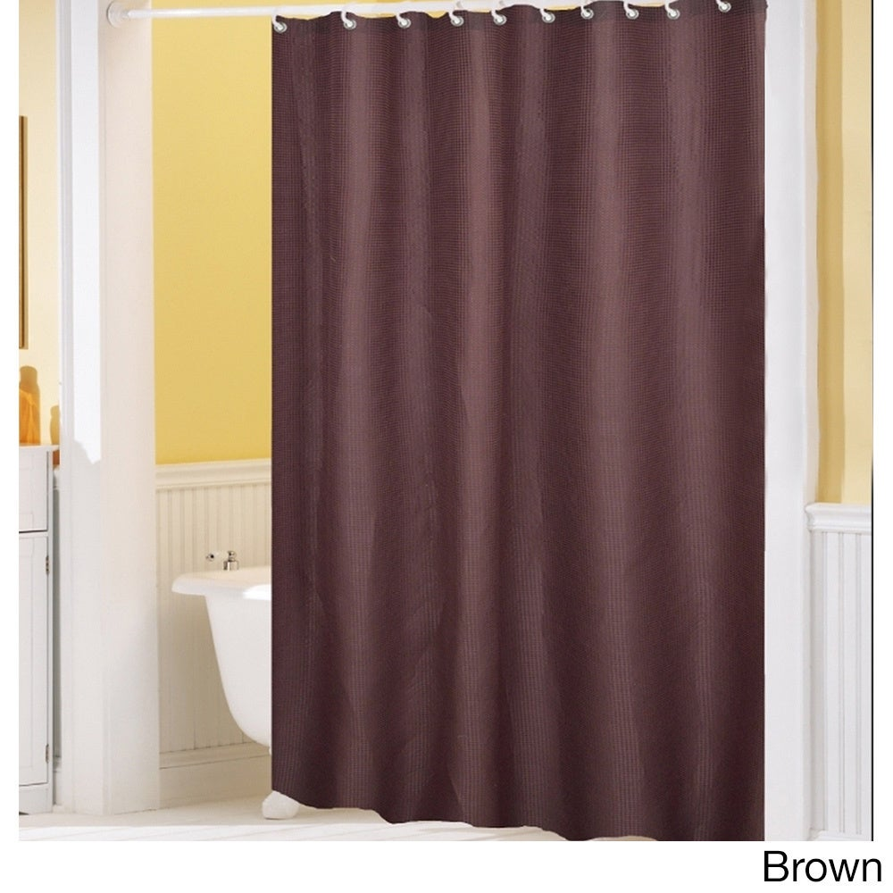 Shop Hotel Quality Waffle Weave Fabric Shower curtain (70 x 72) - On ...
