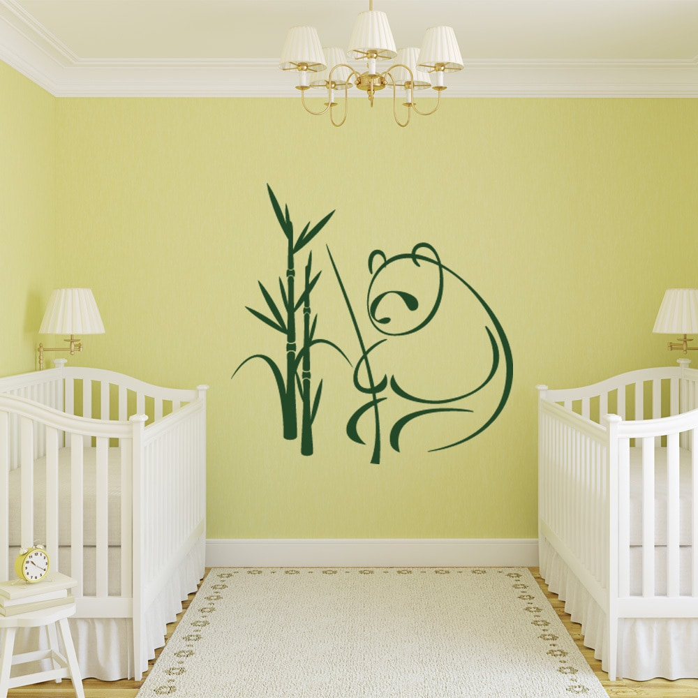 Shop Panda Vinyl Mural Wall Decal - Free Shipping On Orders Over $45 ...