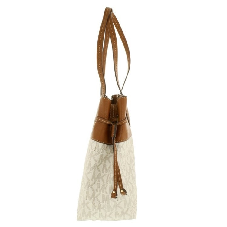 0e0575a626cc Shop Michael Kors Marina Vanilla North South Large Drawstring Tote - Free  Shipping Today - Overstock - 11650404