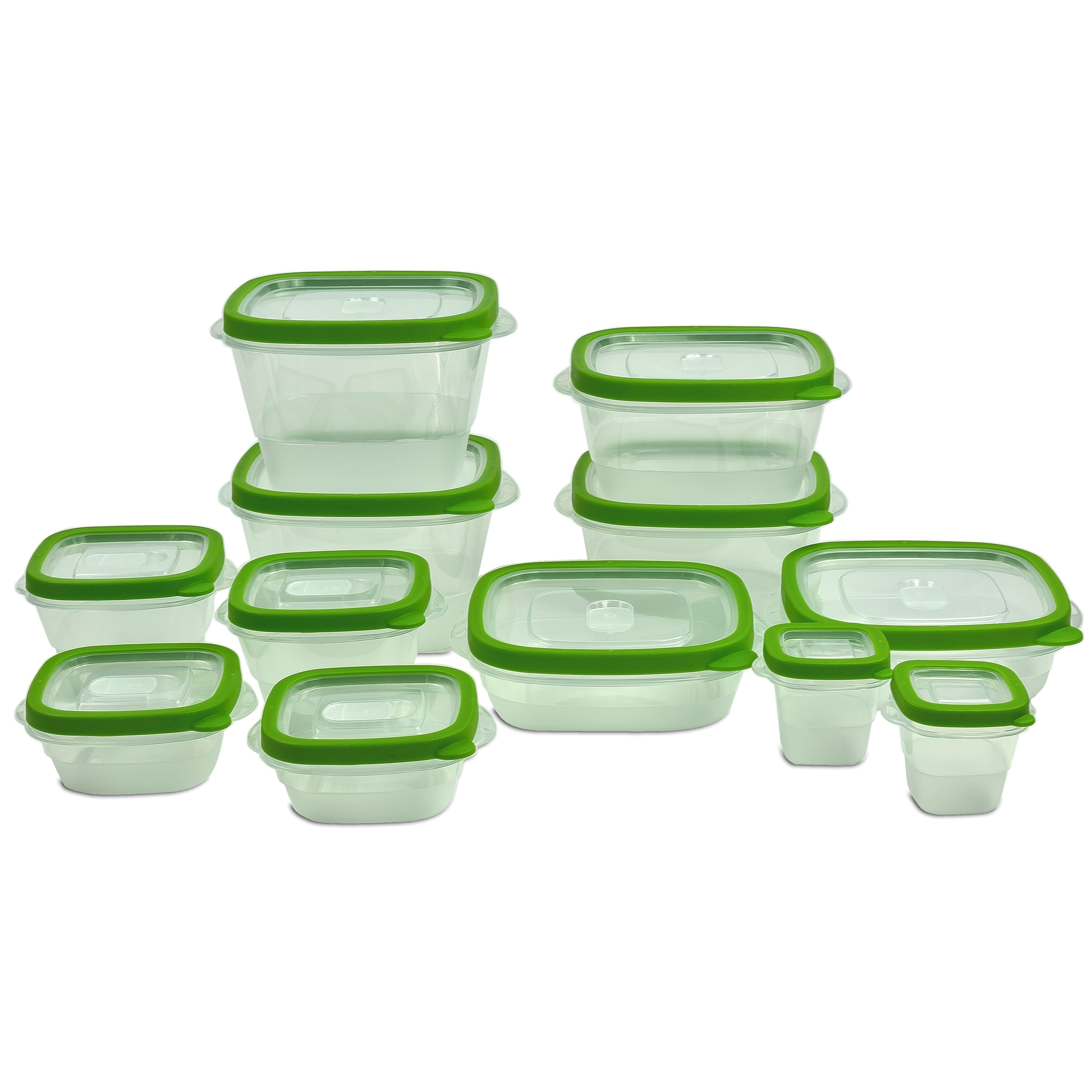 Shop 24 Piece Plastic Food Storage Containers Set with Vents and Air