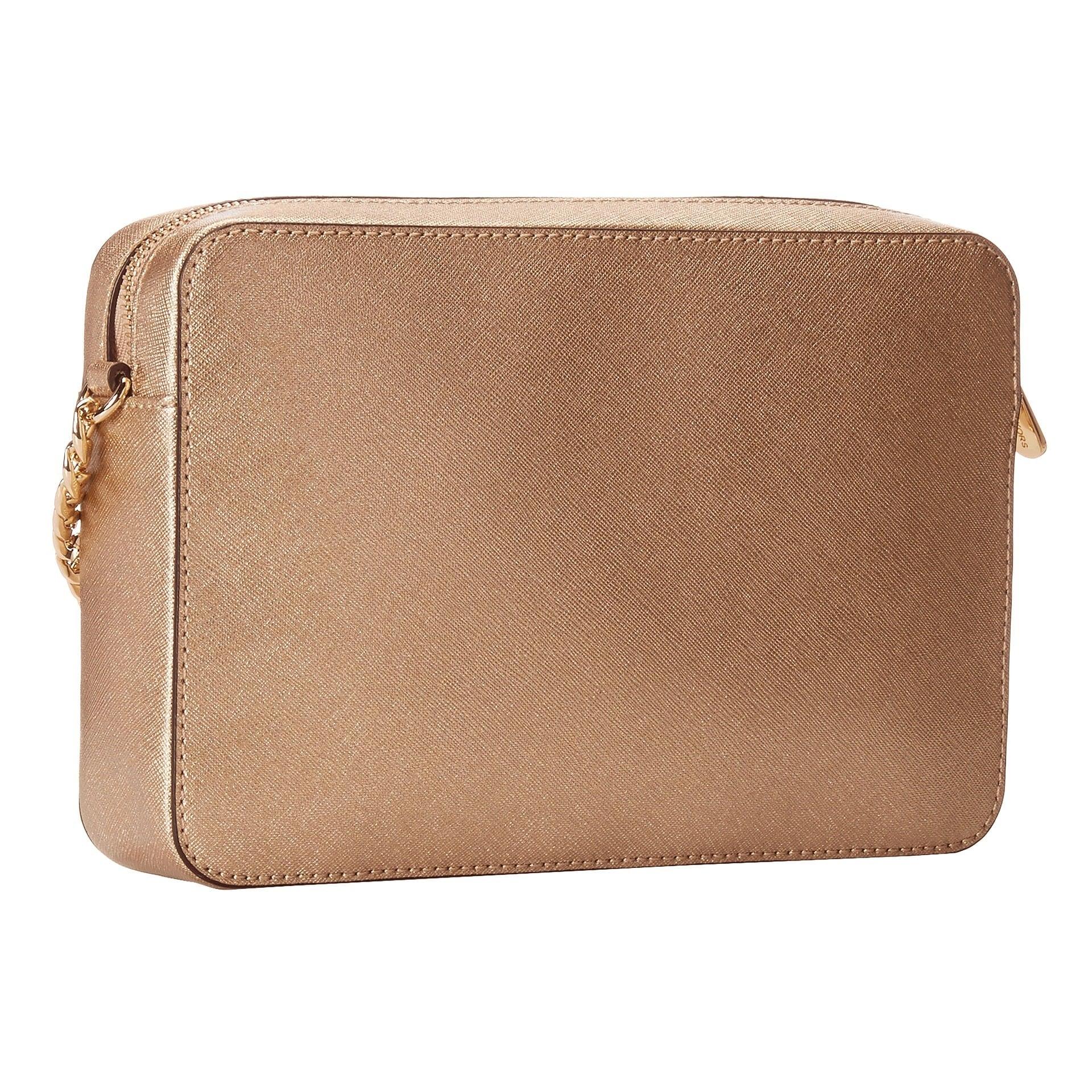 fedb26f3041f Shop Michael Kors Jet Set Pale Gold Travel Large Crossbody Handbag - Free  Shipping Today - Overstock - 11650437
