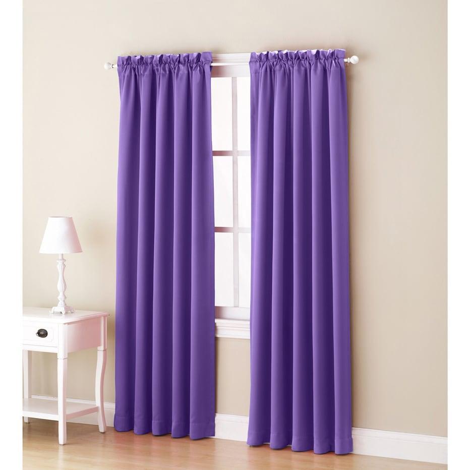 Sun Zero Galia Rod Pocket Room Darkening Window Curtain Panel or ...