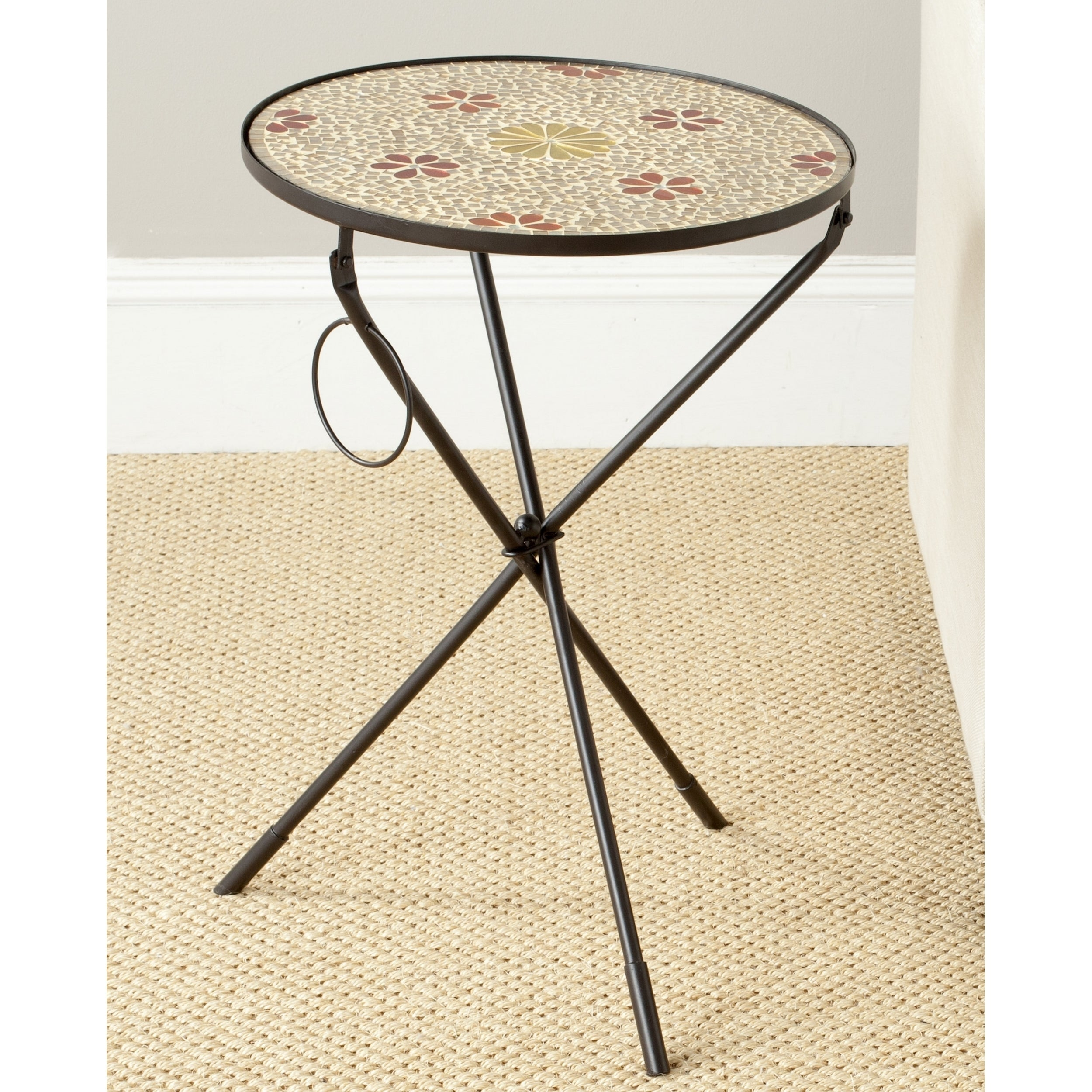 Etonnant Safavieh Cymbeline Gold Glass Side Table   Free Shipping Today   Overstock    18582672