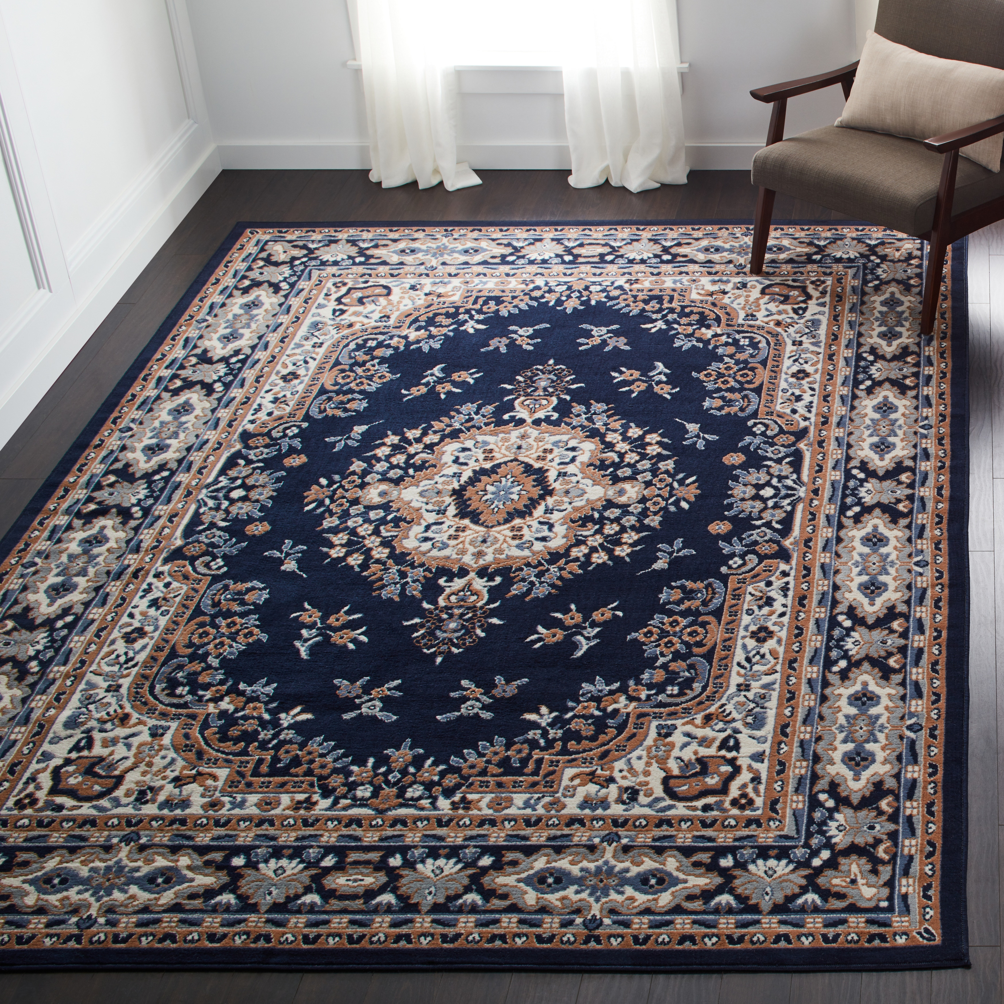 premium traditional oriental area rug - 7'8 x 10'7 - free shipping