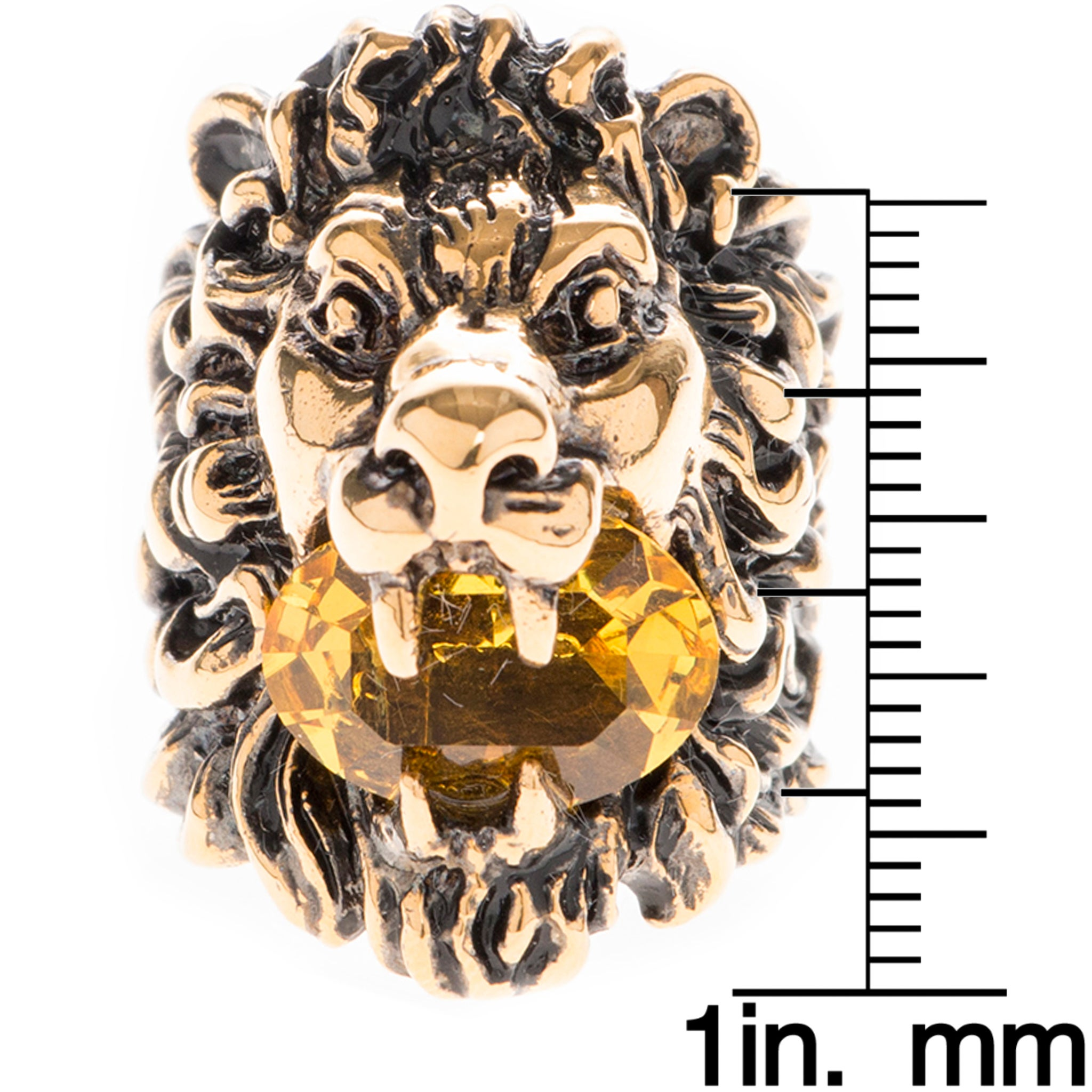 9bb41d5a8d5 Shop Gucci Austrian Crystal Lion Head Ring - Free Shipping Today -  Overstock - 11654499
