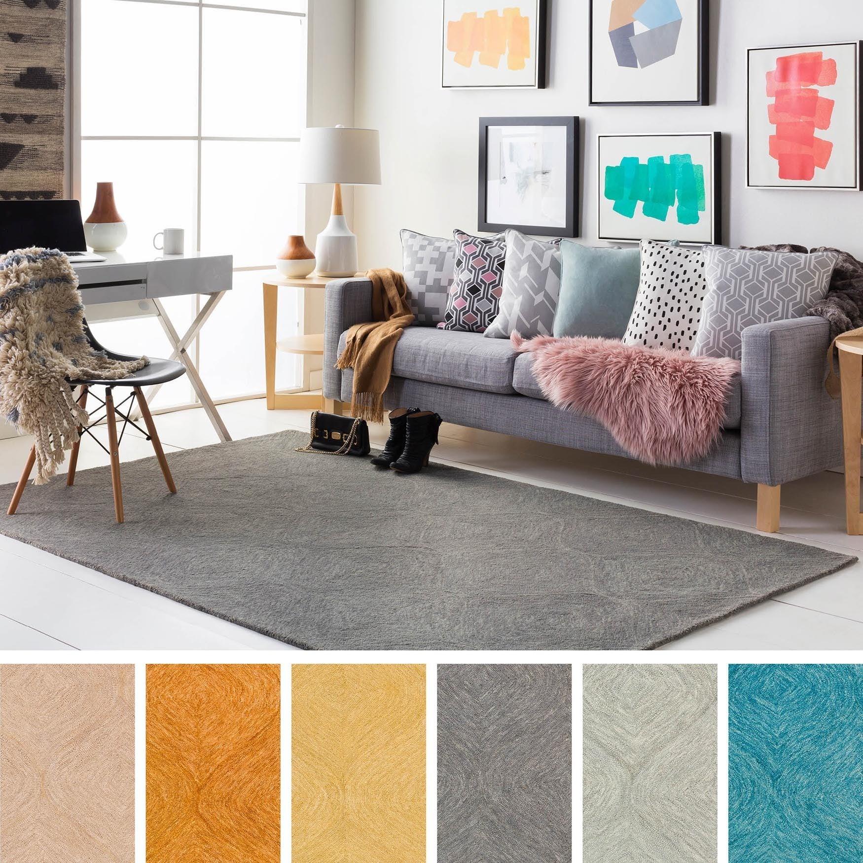 Shop Hand Tufted Cory Wool Area Rug Free Shipping Today
