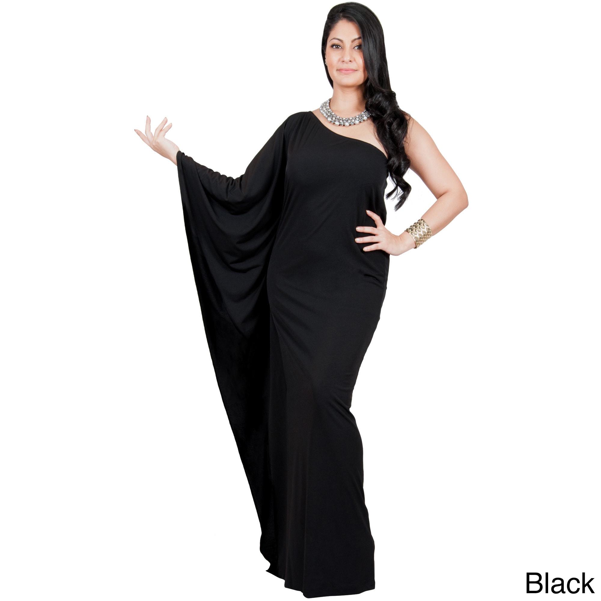 Shop KOH KOH Women\'s Plus Size One Shoulder Single Sleeve Slimming ...