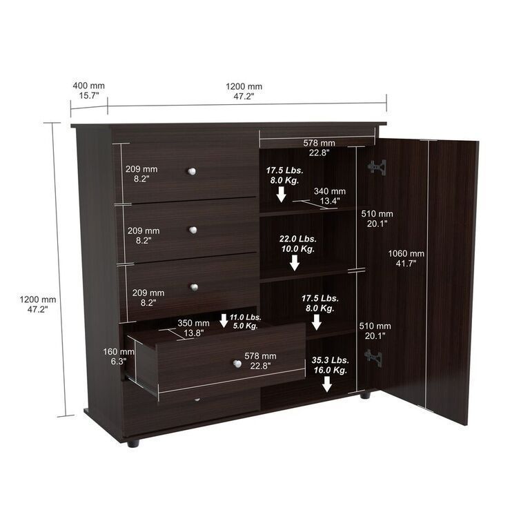 Ordinaire Inval Espresso Wenge Armoire/ Dresser Combo   Free Shipping Today    Overstock.com   18588892